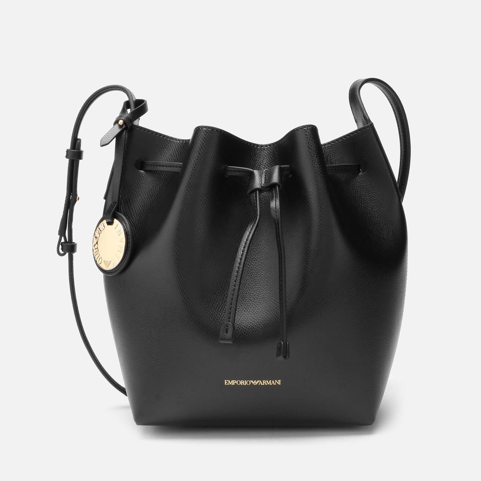d45cd0a7cf Emporio Armani Women's Bucket Bag - Nero/Rosso