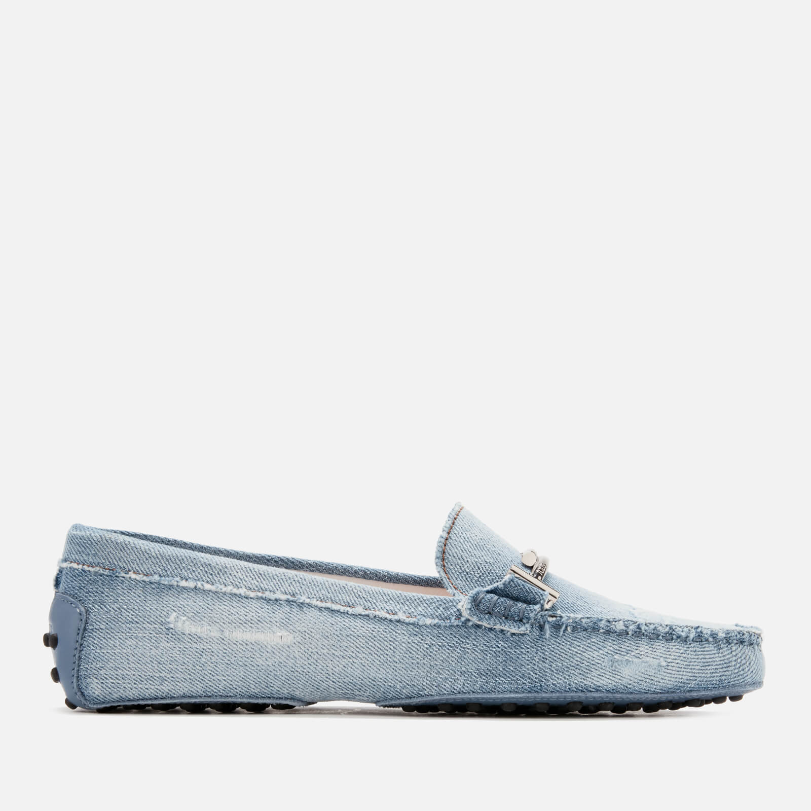 2a8930abfcb Tod s Women s Gommino Denim Driving Shoes - Light Denim - Free UK ...