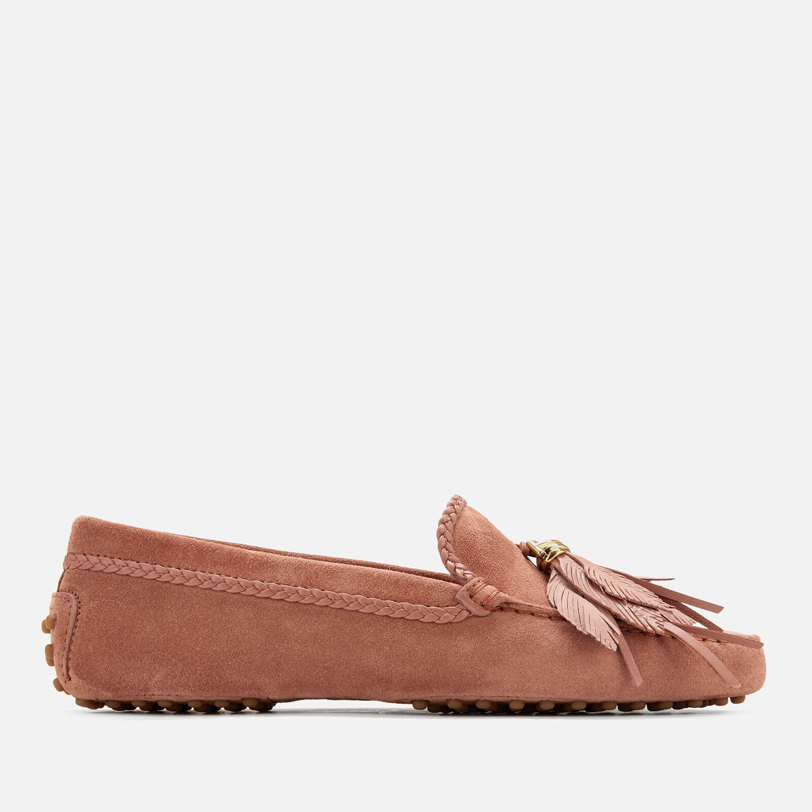 d423552029c Tod s Women s Gommino Feather Moccasin Shoes - Damasco - Free UK Delivery  over £50