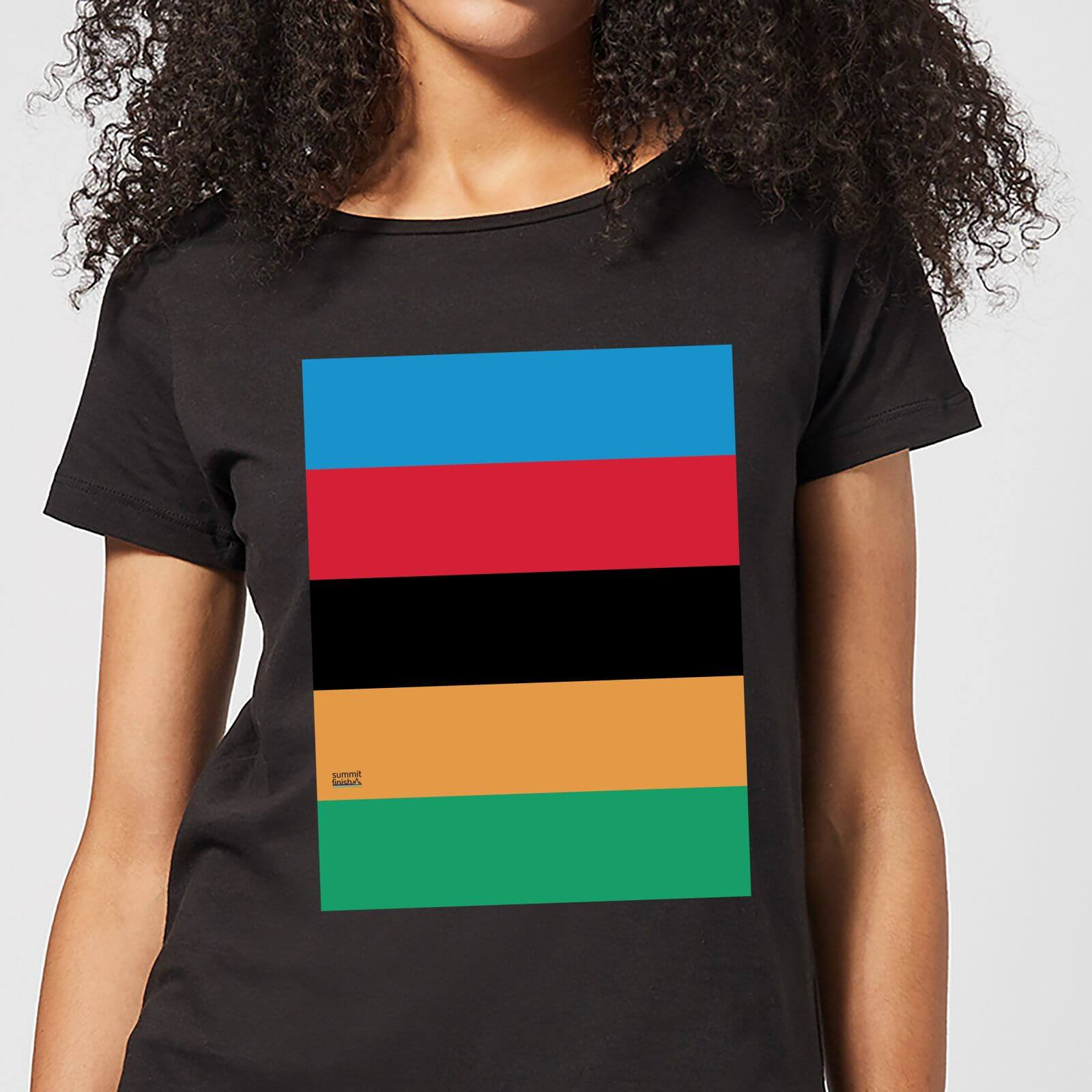 443939bde Summit Finish World Champion Stripes Women's T-Shirt - Black. Description