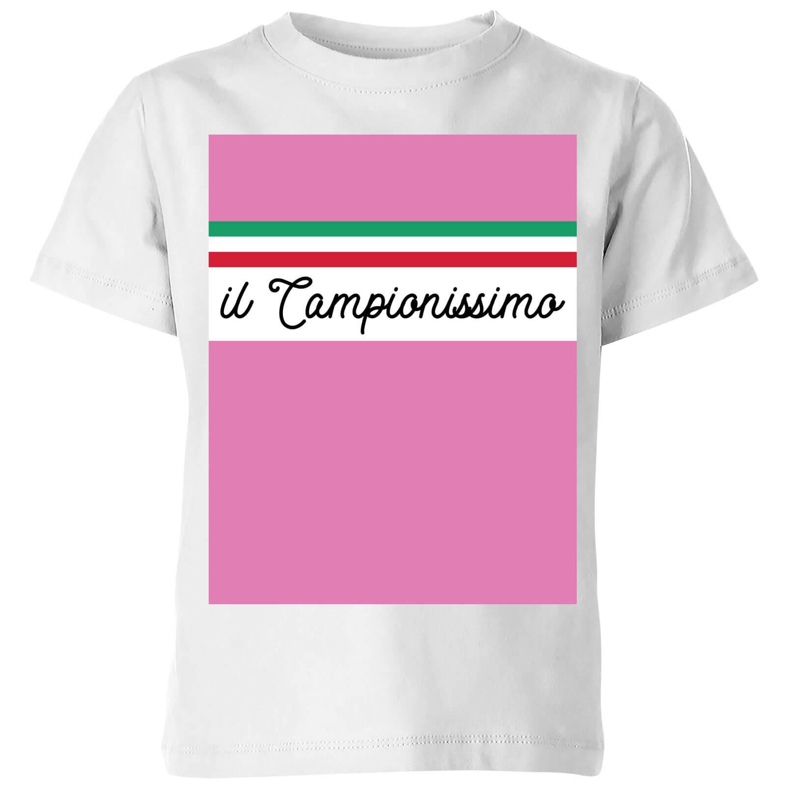 c0a784b3 Summit Finish Il Campionissimo Kids' T-Shirt - White | IWOOT
