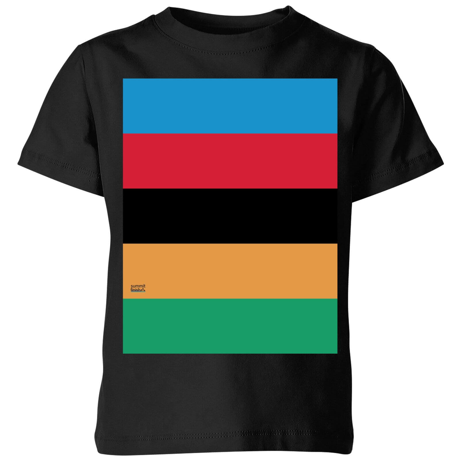 77704557f Summit Finish World Champion Stripes Kids' T-Shirt - Black | ProBikeKit  Australia