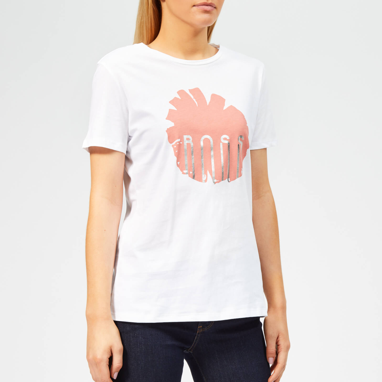 72565c606 BOSS Women's Teblossom T-Shirt - White Womens Clothing   TheHut.com