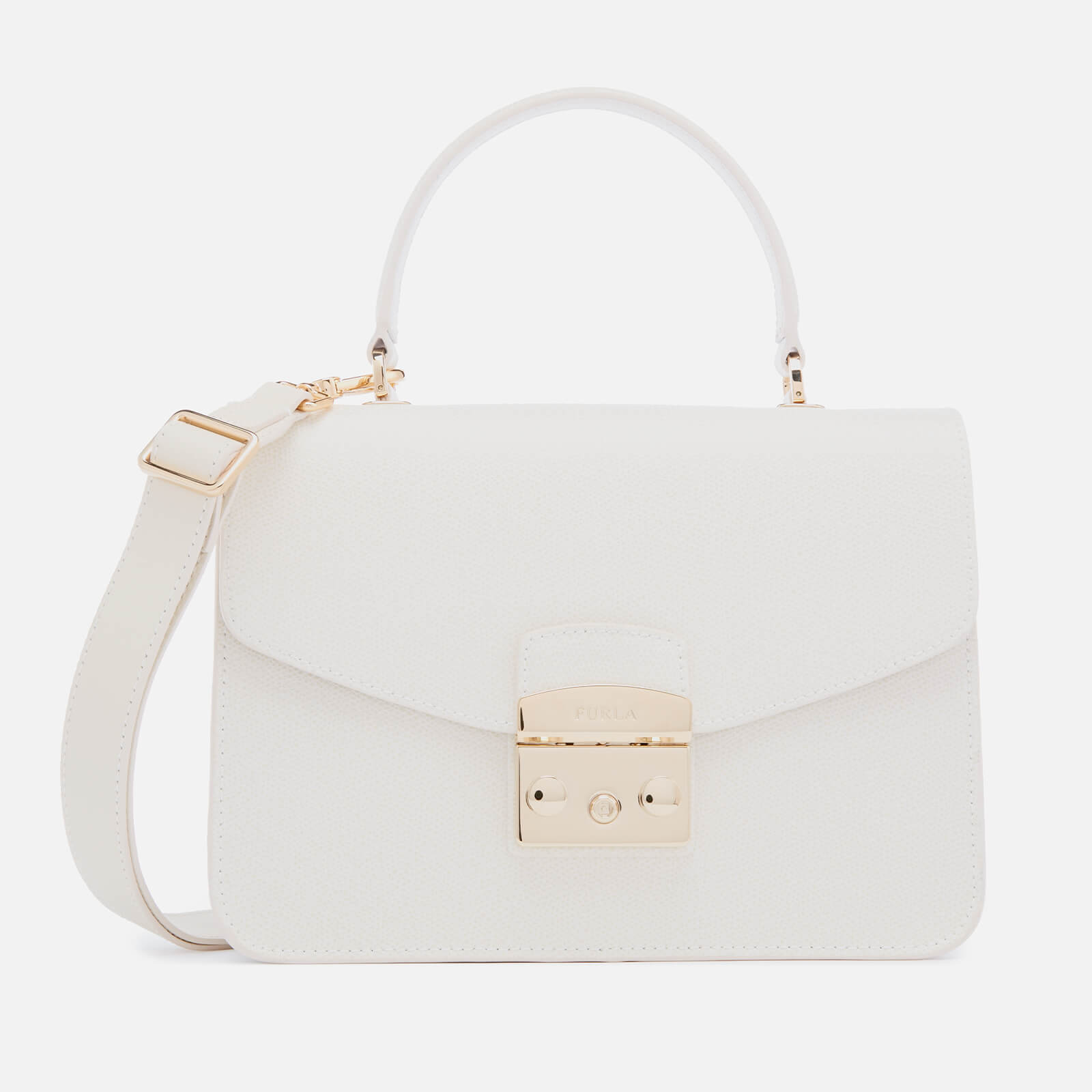 4ed2f23120738 Furla Women s Metropolis Small Top Handle Bag - White - Free UK Delivery  over £50