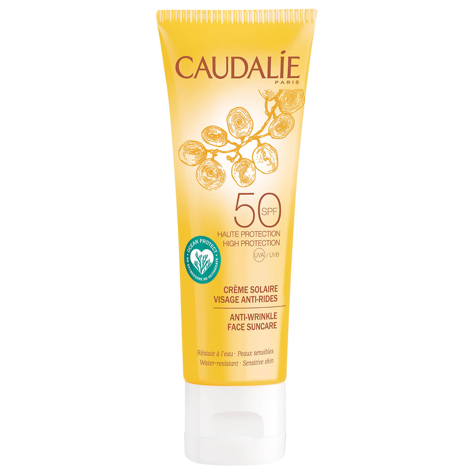 Spf Caudalie Care 50 Face Lotion Sun Wrinkle Anti 50mlFree 5AL34jRq