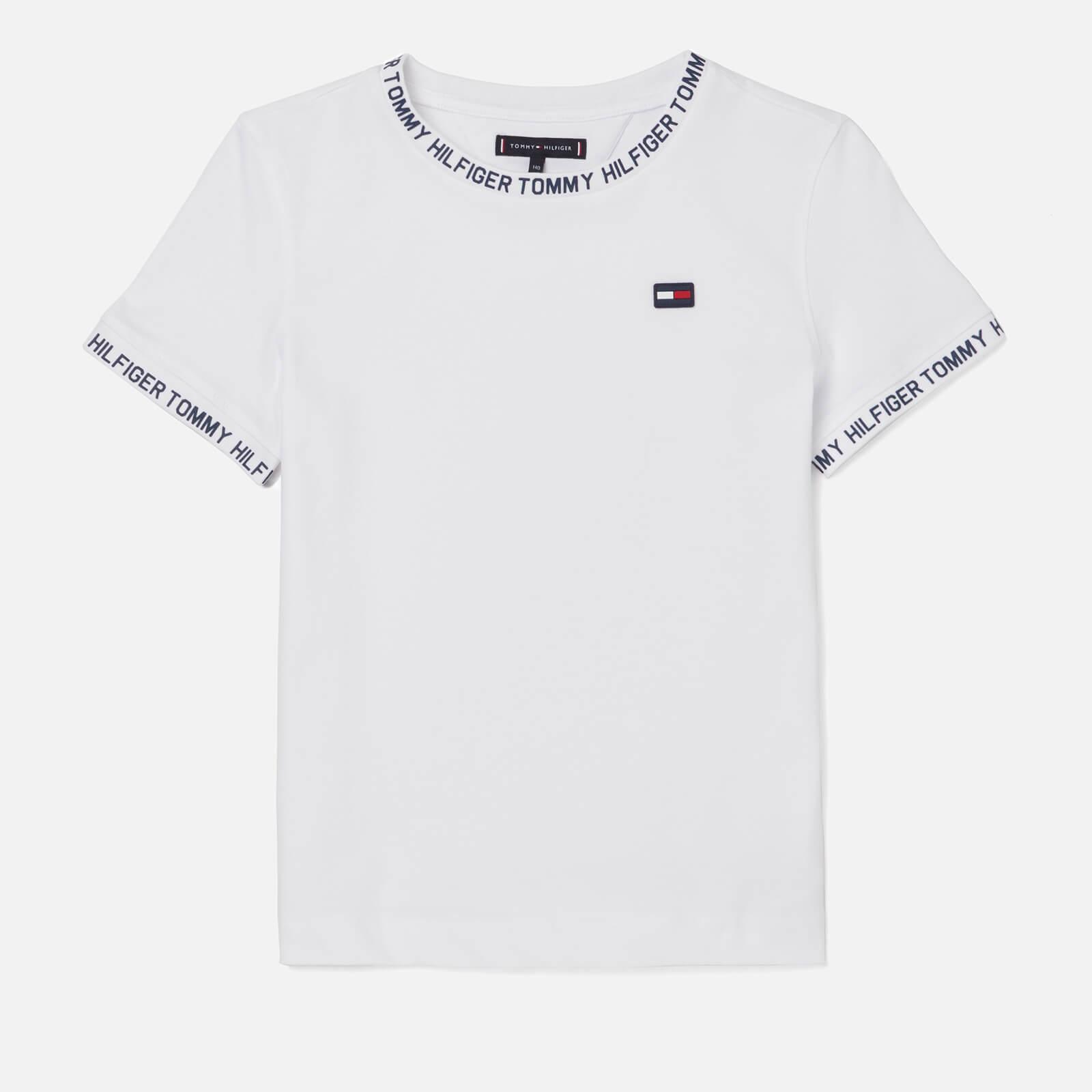 67bf26f9 Tommy Hilfiger Boys' Printed Rib T-Shirt - Bright White Clothing    TheHut.com