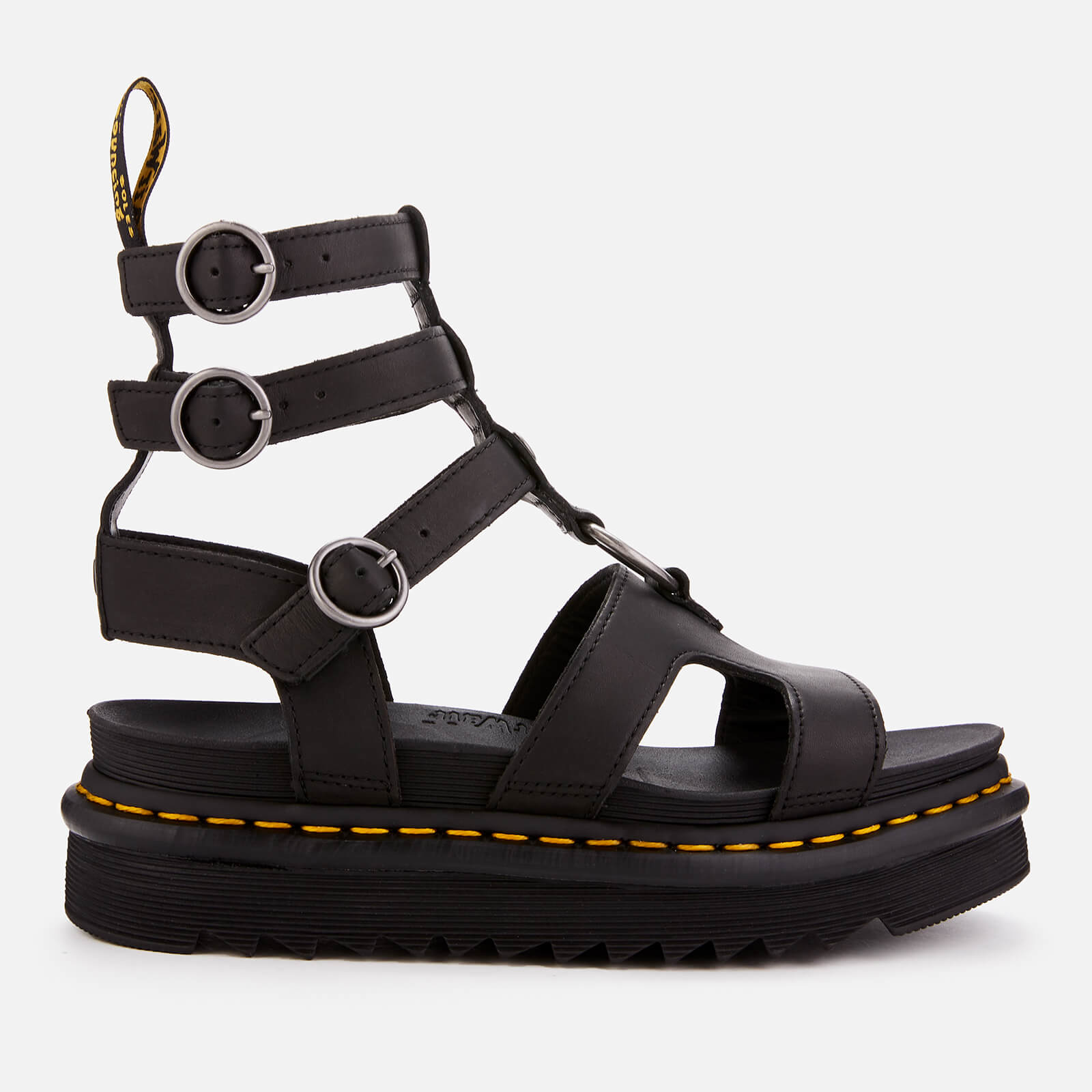 8477bc7d34e Dr. Martens Women s Adaira Leather Gladiator Sandals - Black Womens  Footwear