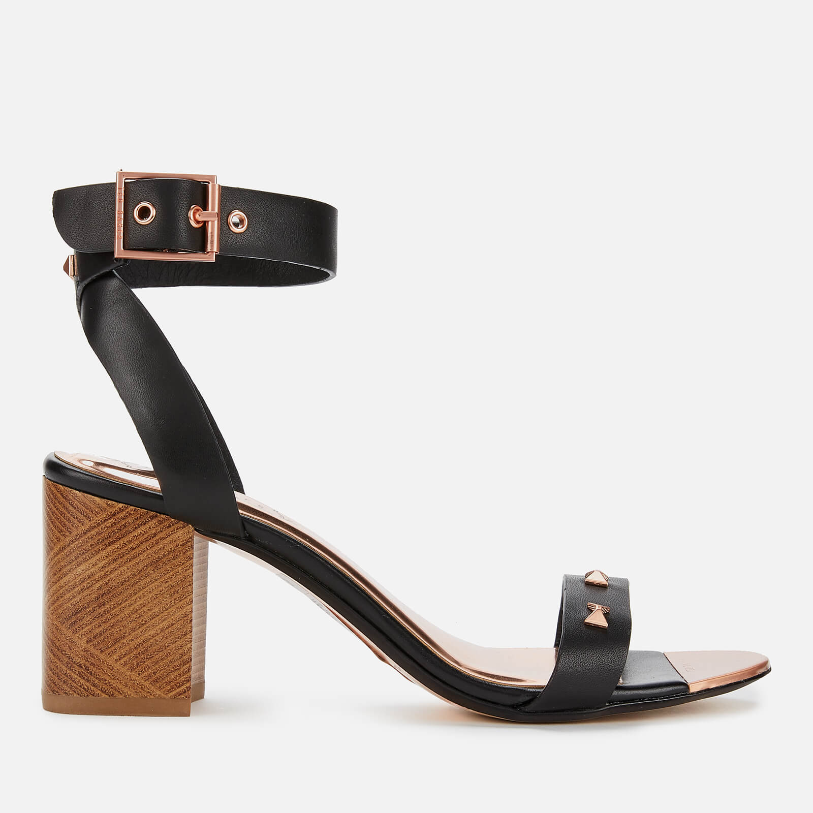 19acabab864 Ted Baker Women's Biah Leather Block Heeled Sandals - Black