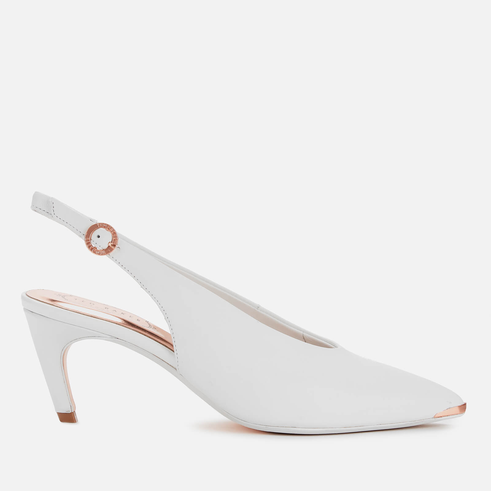 lace up in big discount cheap for sale Ted Baker Women's Hulia Leather Sling Back Kitten Heels - White