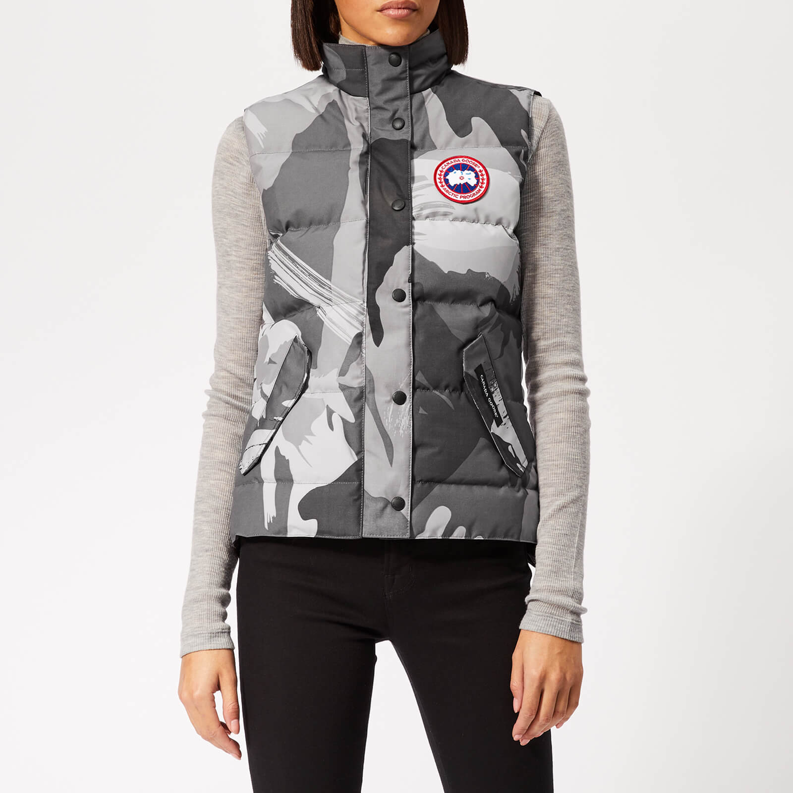 ca34b4ddcda4 Canada Goose Women s Freestyle Vest - Grey Camo - Free UK Delivery over £50