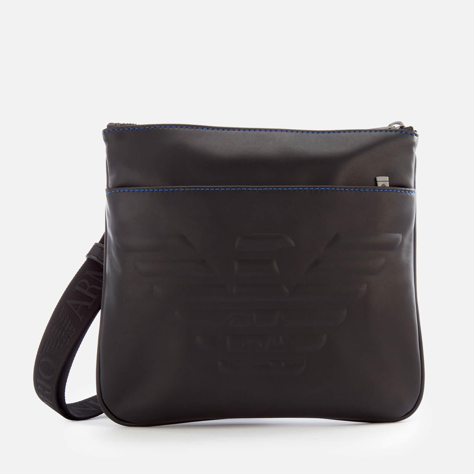 286022e3 Emporio Armani Men's Flat Messenger Bag - Black