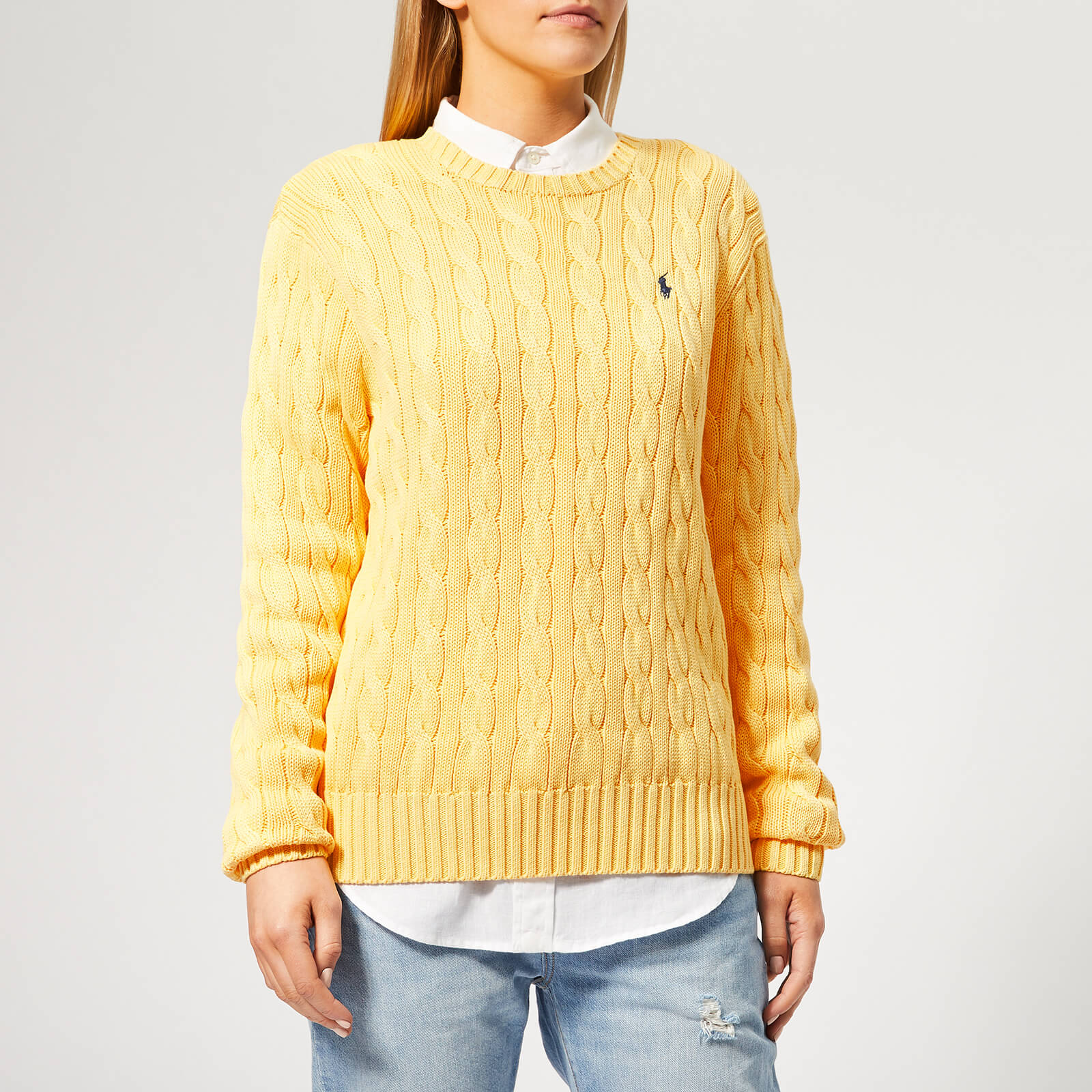 d4042d247416 Polo Ralph Lauren Women's Cable Knit Sweater - Buttercream - Free UK  Delivery over £50