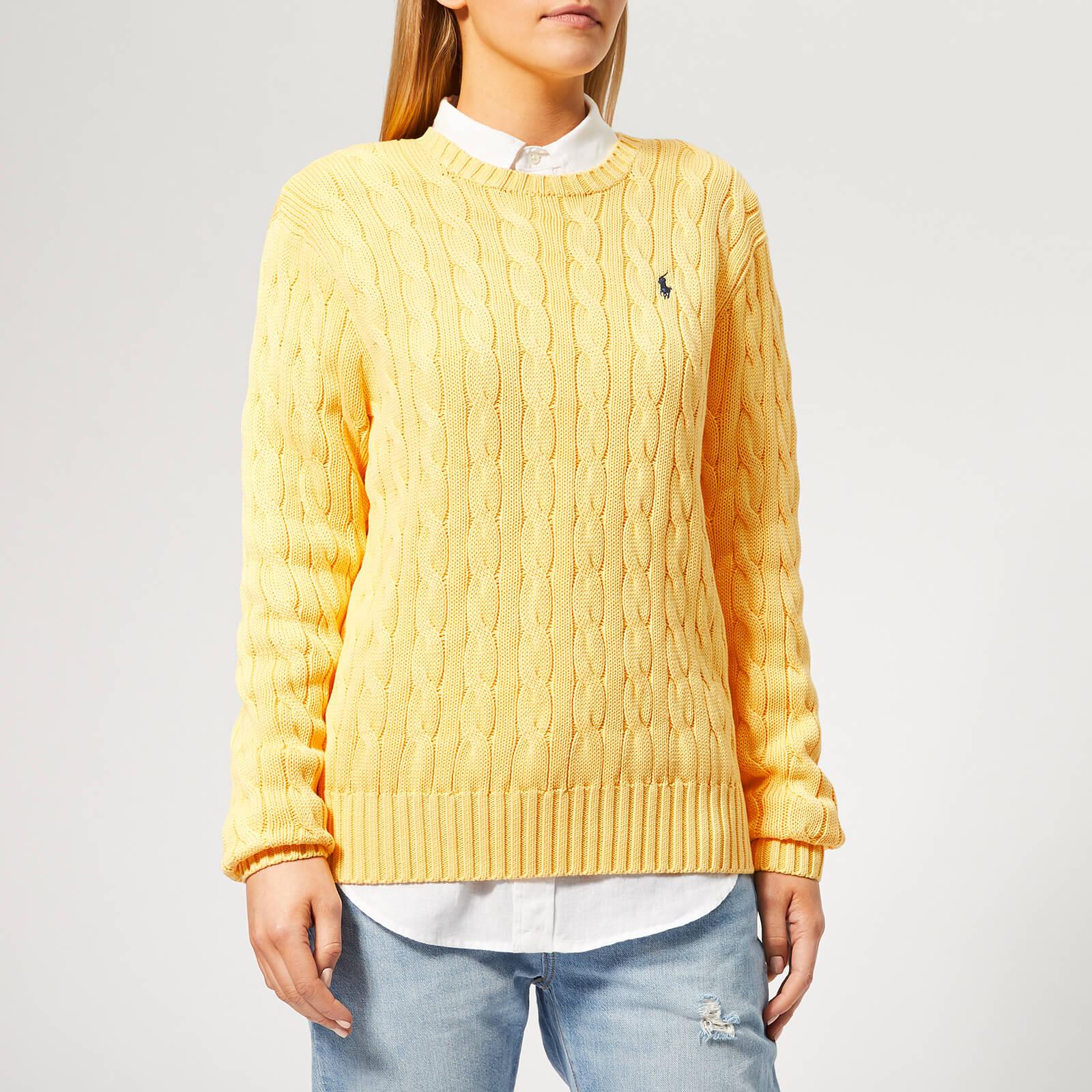 Polo Ralph Cable Buttercream Lauren Sweater Women's Knit tsrxQdCh
