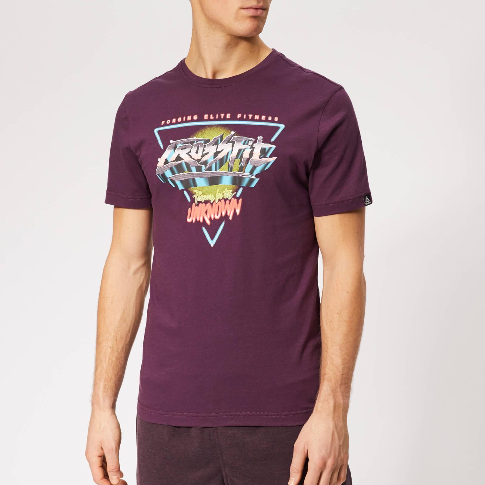 Reebok Herren CrossFit Neon Retro T Shirt Schwarz