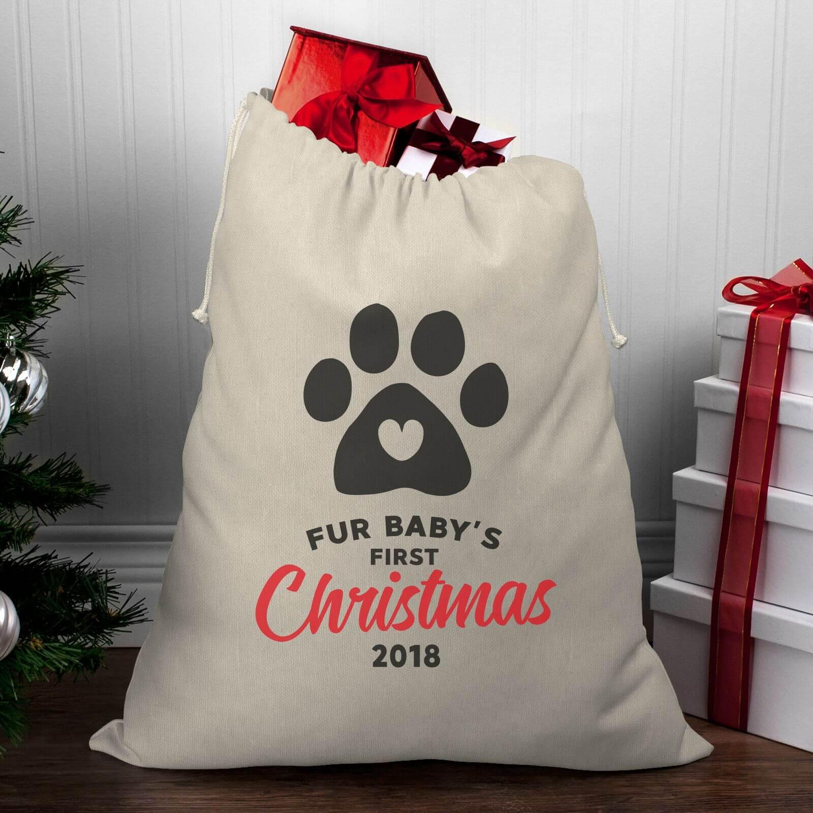Fur Baby s First Christmas Christmas Santa Sack  6418dbbcf