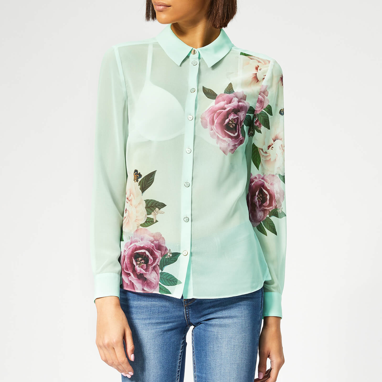 db9ddeabfa41d Ted Baker Women s Zaylaa Magnificent Blouse - Mint Womens Clothing ...