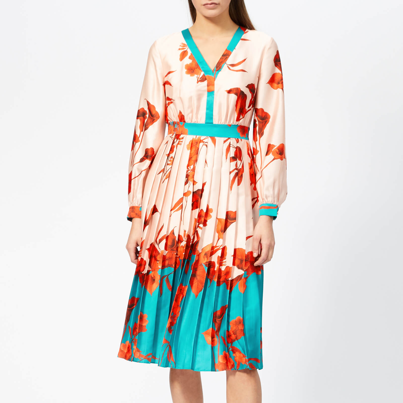 ca20d51d826e4c Ted Baker Women's Karolyn Fantasia Bow Neck Midi Dress - Pale Pink Womens  Clothing | TheHut.com