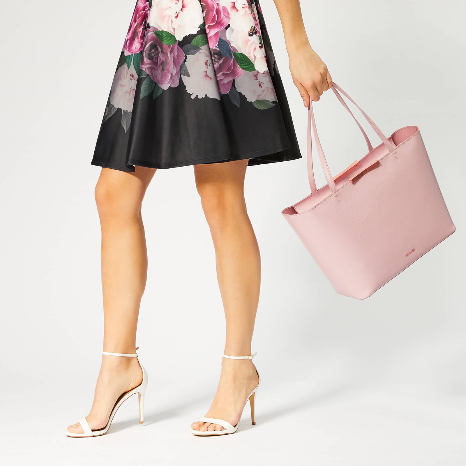 Ted Baker Women's Jackki Faceted Bow Mini Bark Shopper Bag - Light Pink