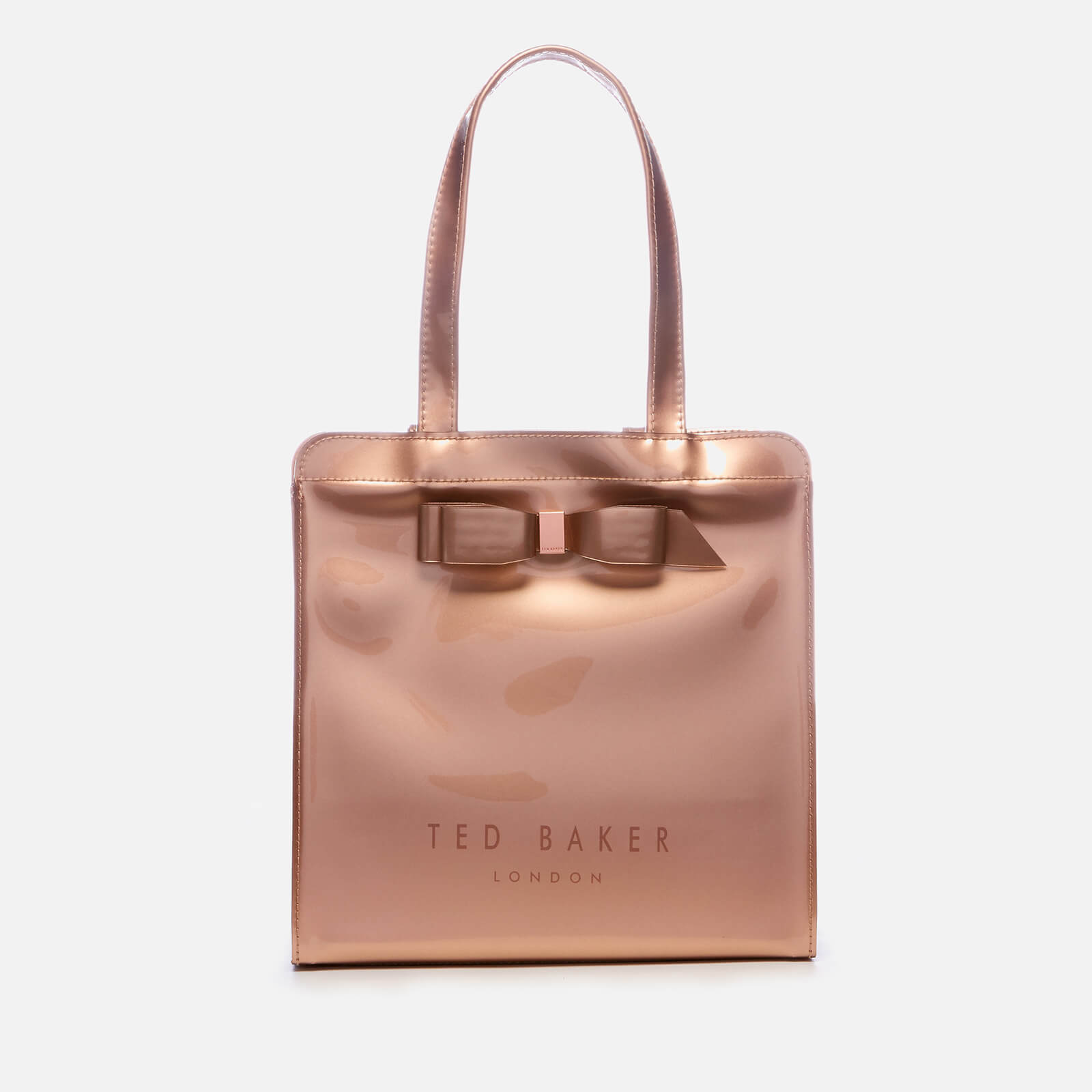 43c5cb6b53a0 Ted Baker Women s Arycon Bow Detail Small Icon Bag - Rose Gold Womens  Accessories