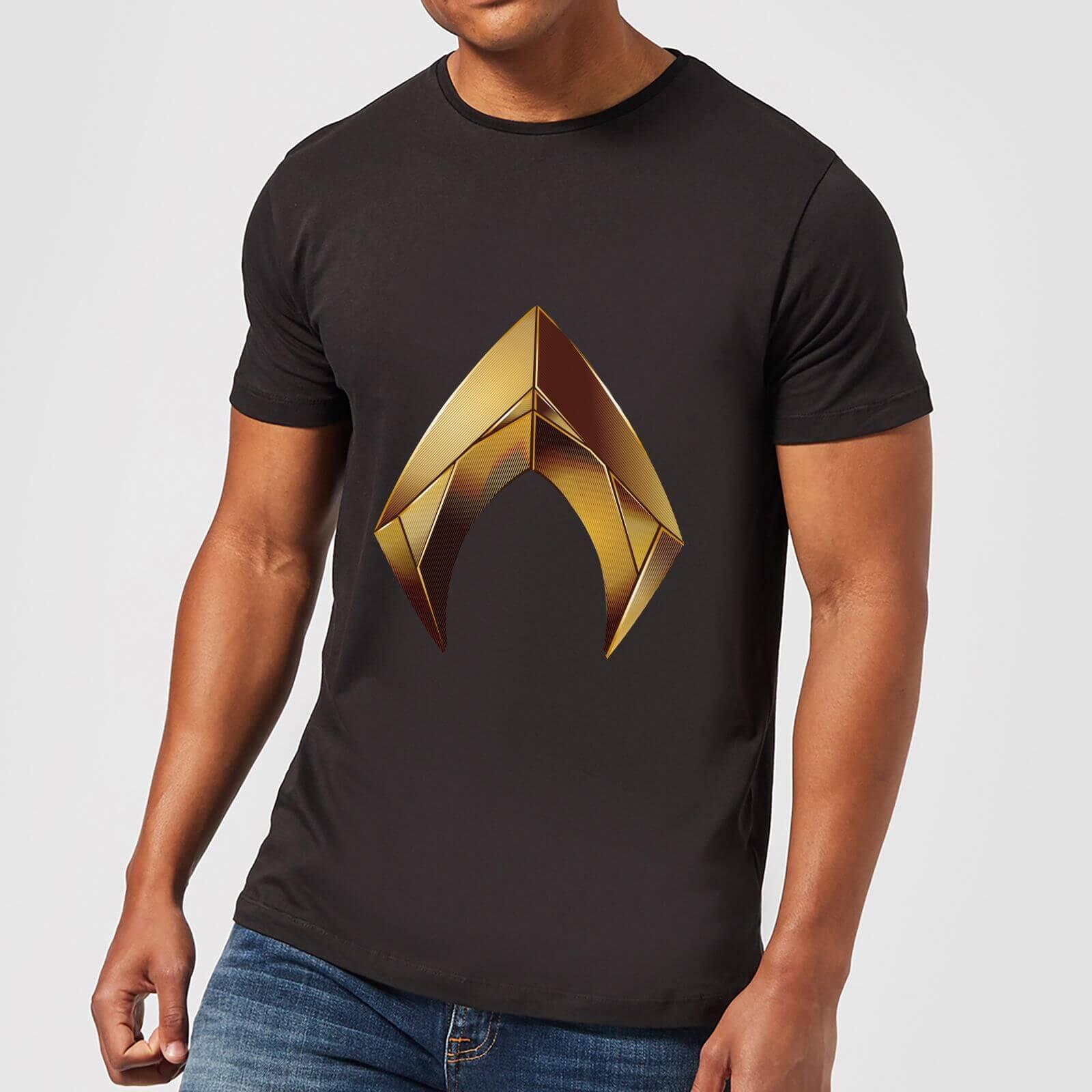 Camiseta DC Comics Aquaman Symbol - Hombre - Negro Clothing  f838df59689