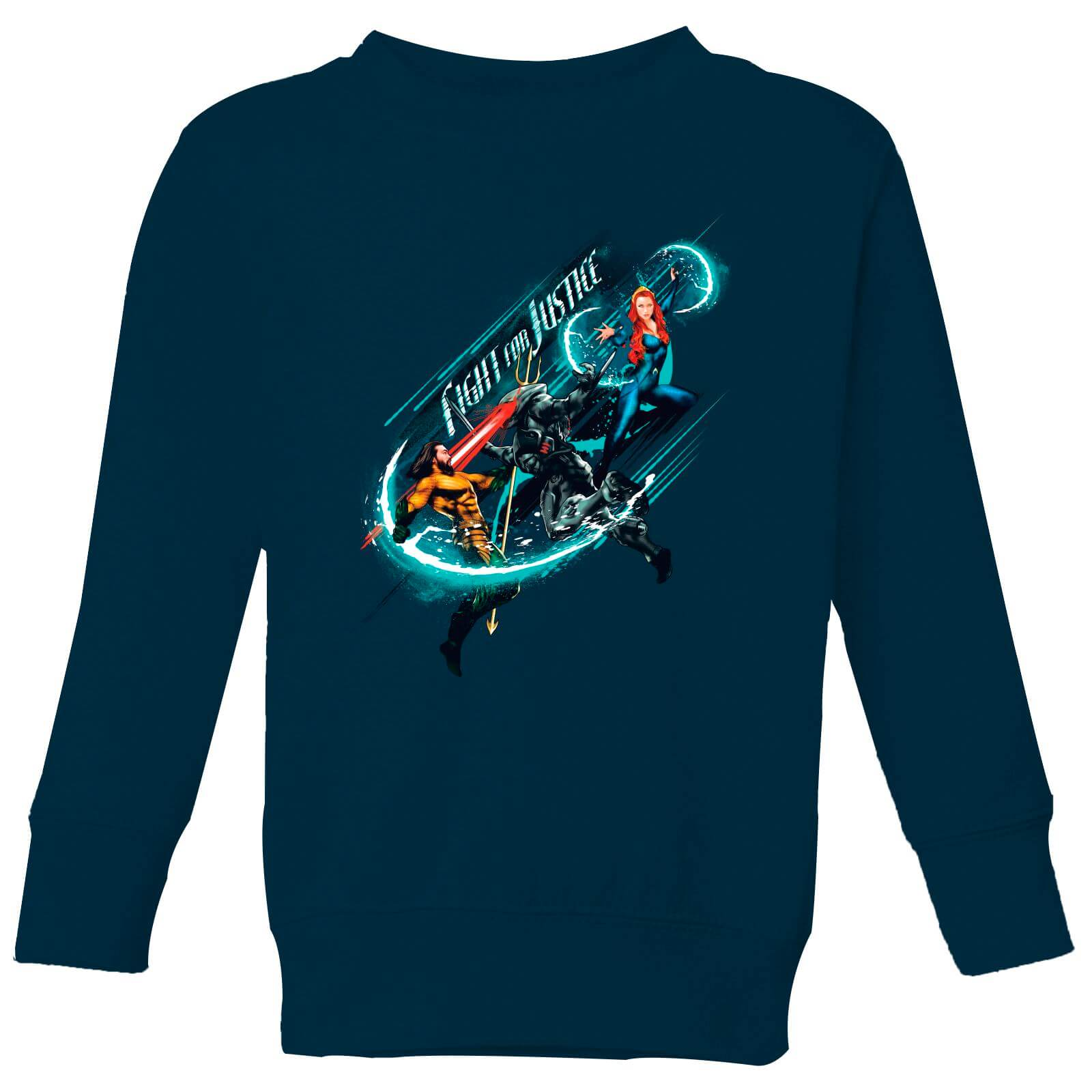 f13612efe77 Aquaman Fight for Justice Kids' Sweatshirt - Navy | IWOOT