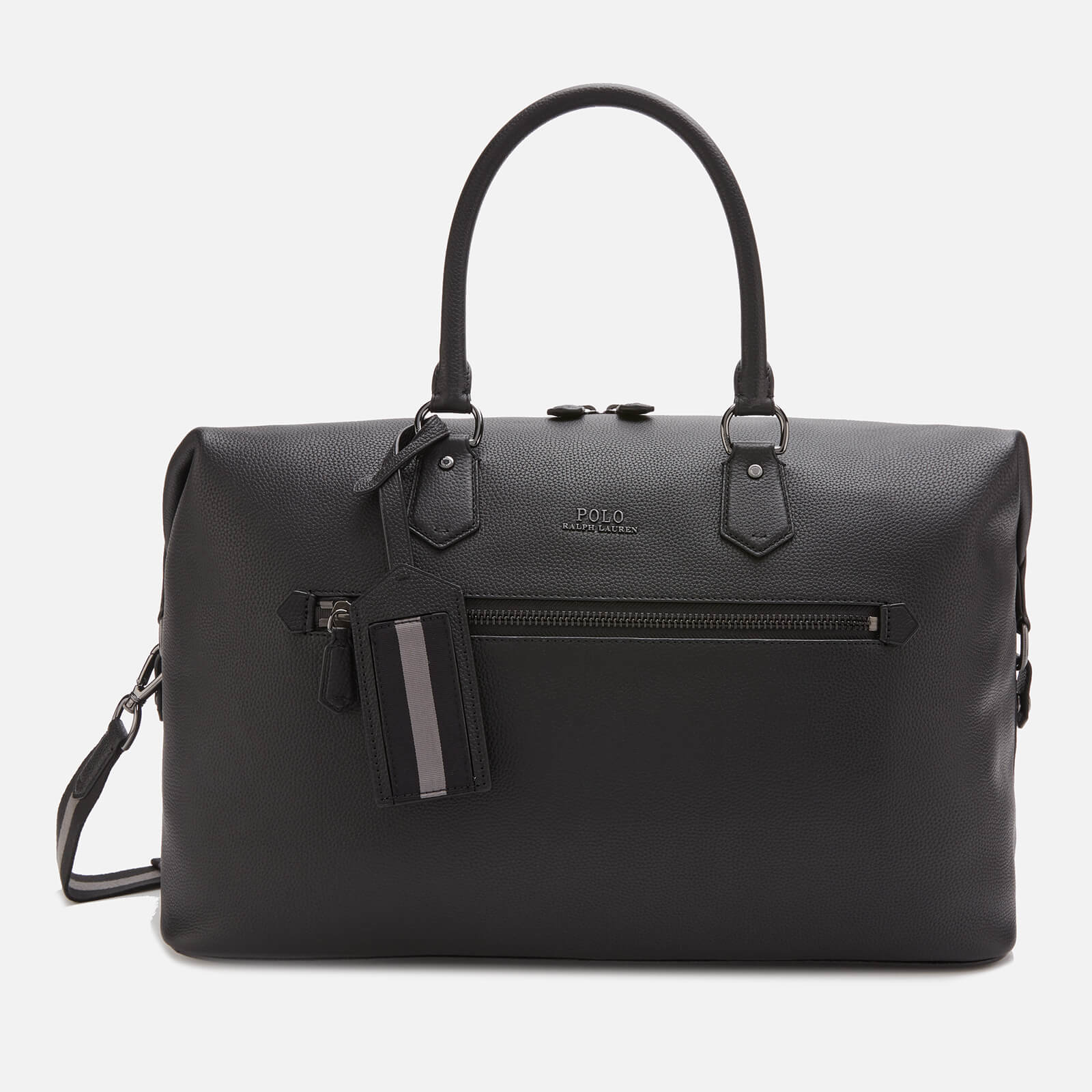 677f5c42d9d Polo Ralph Lauren Men's Web Strap Pebble Duffle Bag - Black - Free UK Delivery  over £50