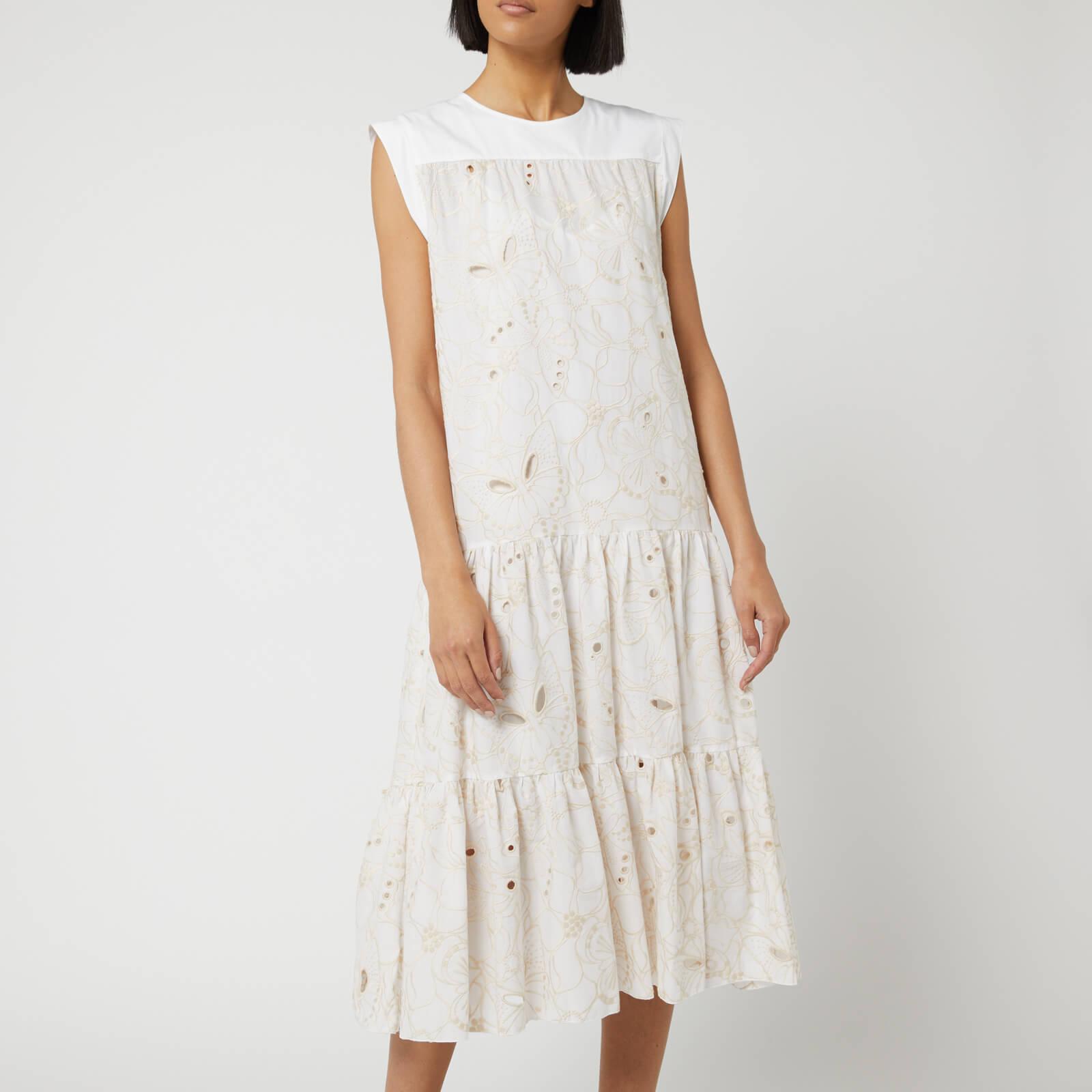 66d1a472a8 See By Chloé Women's Laser Cut Midi Dress - White Beige
