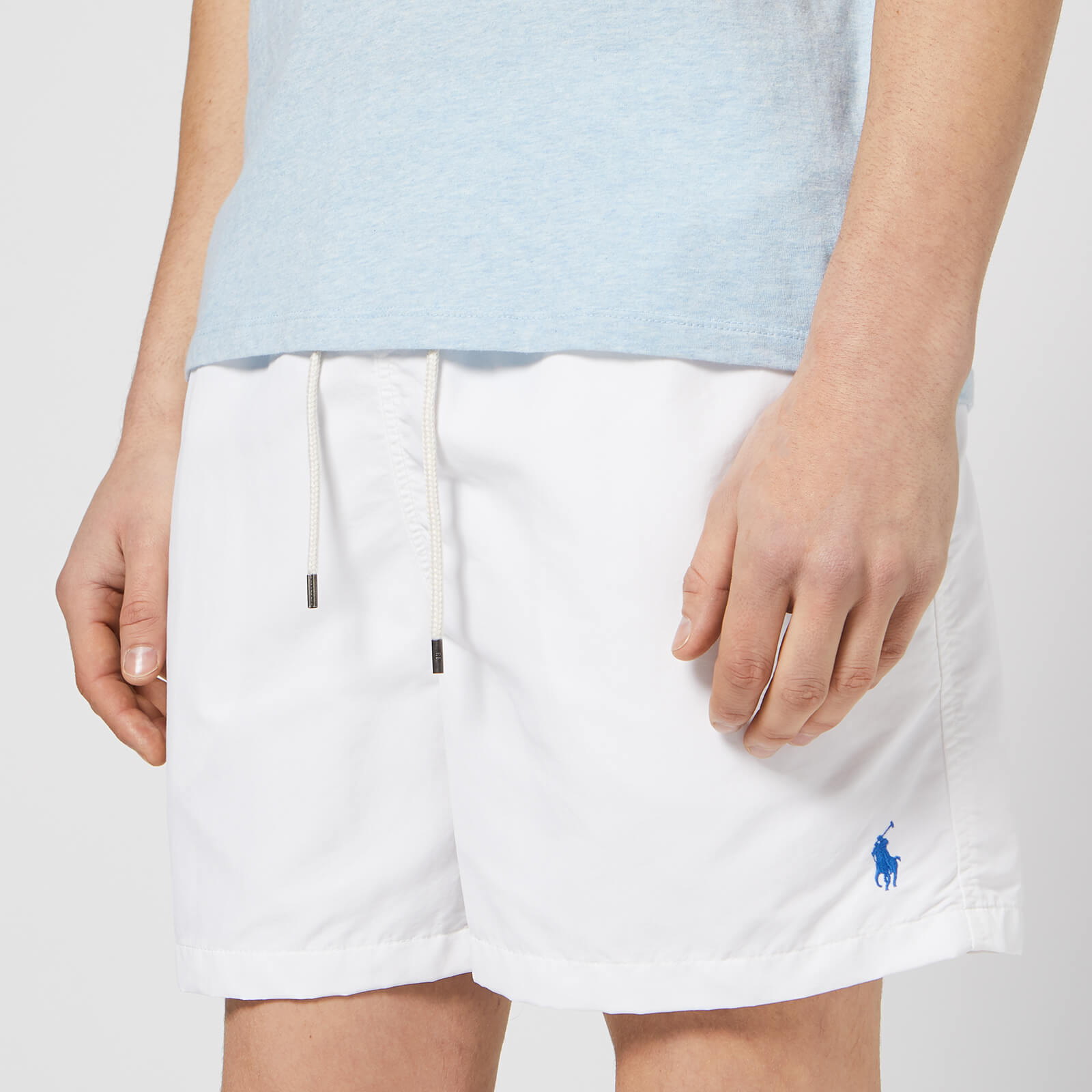 1a16293bb2 Polo Ralph Lauren Men's Traveller Swim Shorts - White - Free UK Delivery  over £50