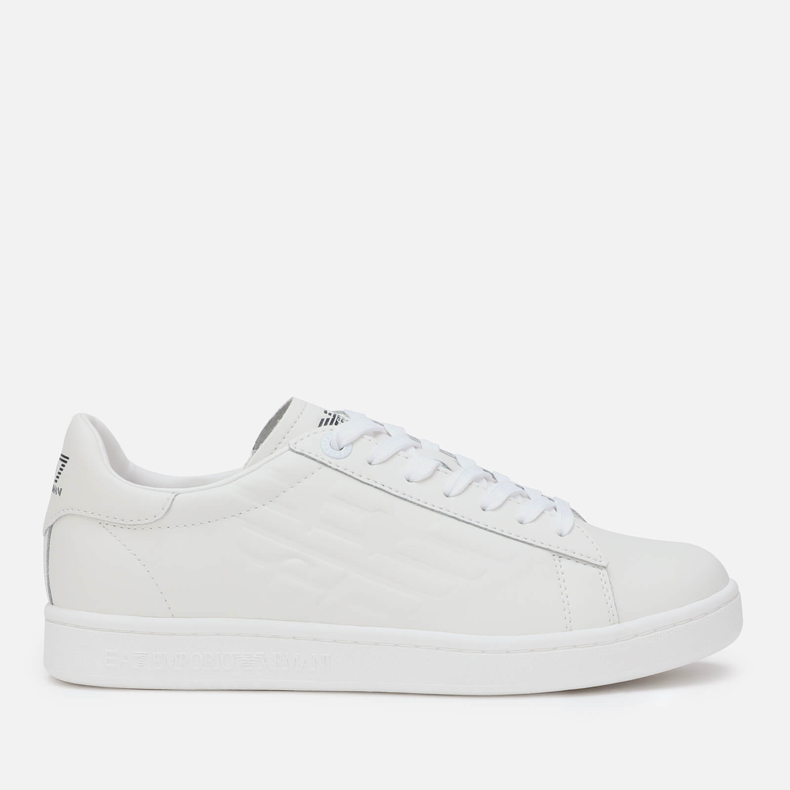 9f810b29 Emporio Armani EA7 Men's Eagle Court Trainers - White/White