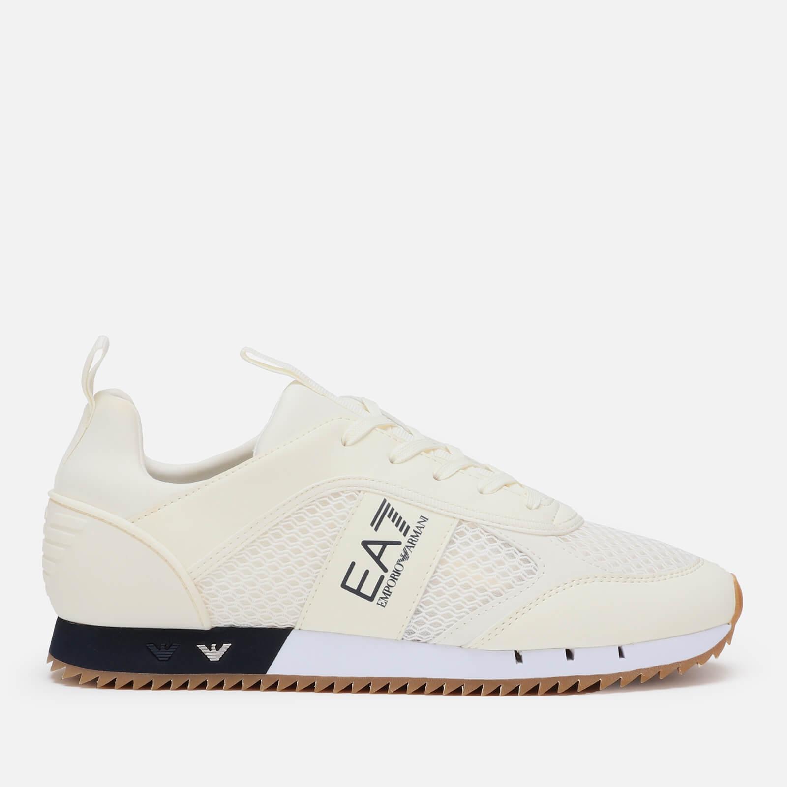 274a97723 Emporio Armani EA7 Men's Black and White Laces Trainers - White Mens  Footwear | TheHut.com