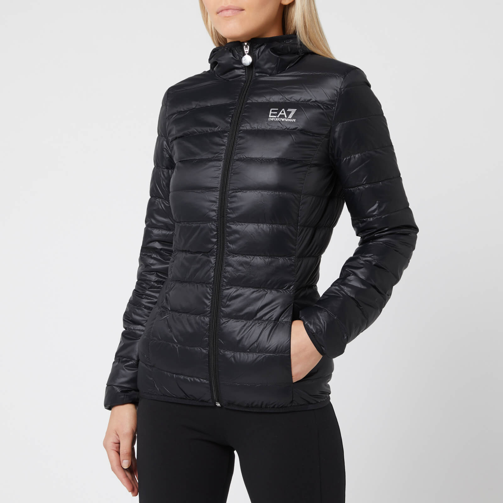 a323f8d4 Emporio Armani EA7 Women's Train Core Lady Light Down Packable Jacket -  Black