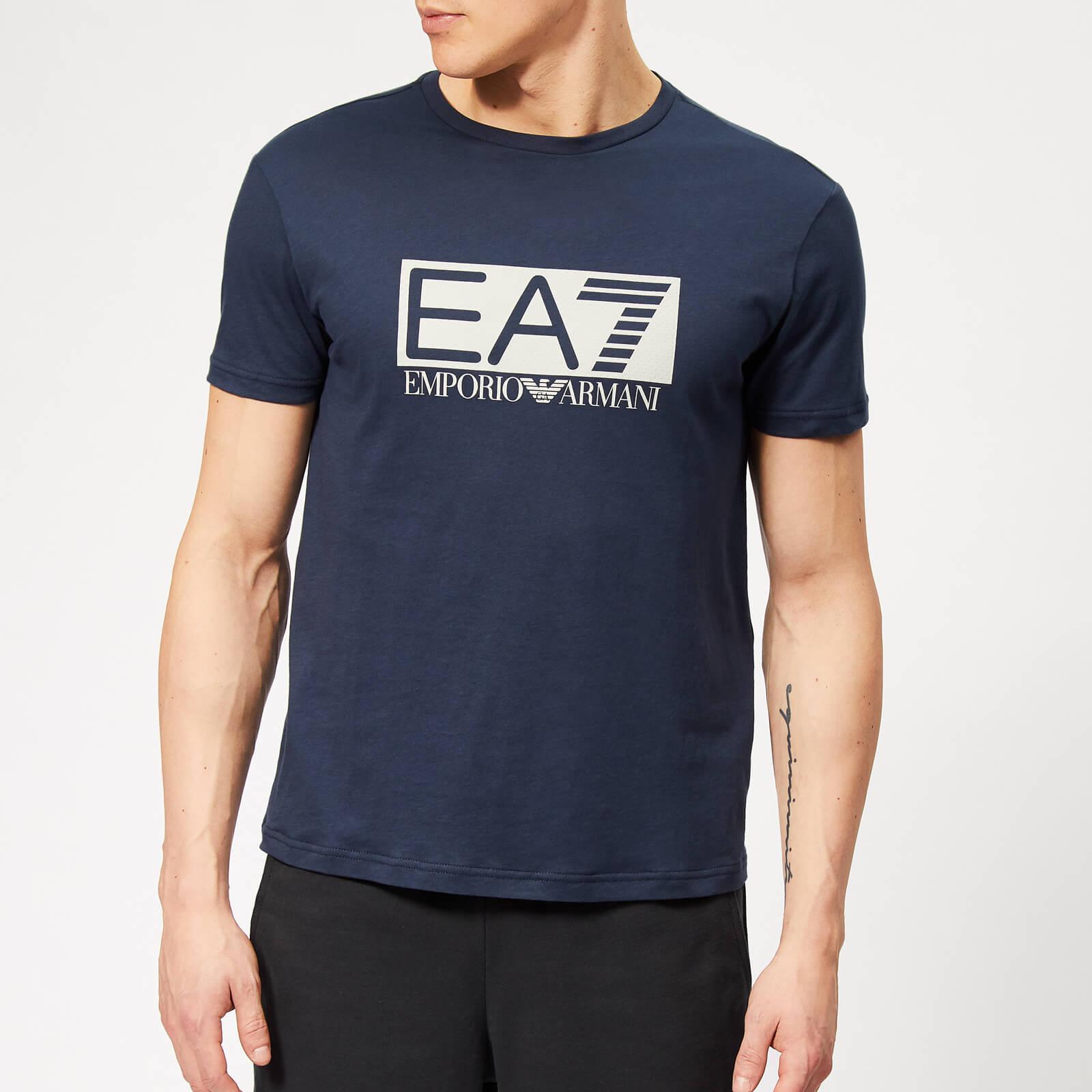 936018a3 Emporio Armani EA7 Men's Train Visibility Short Sleeve T-Shirt - Blue  Clothing | TheHut.com