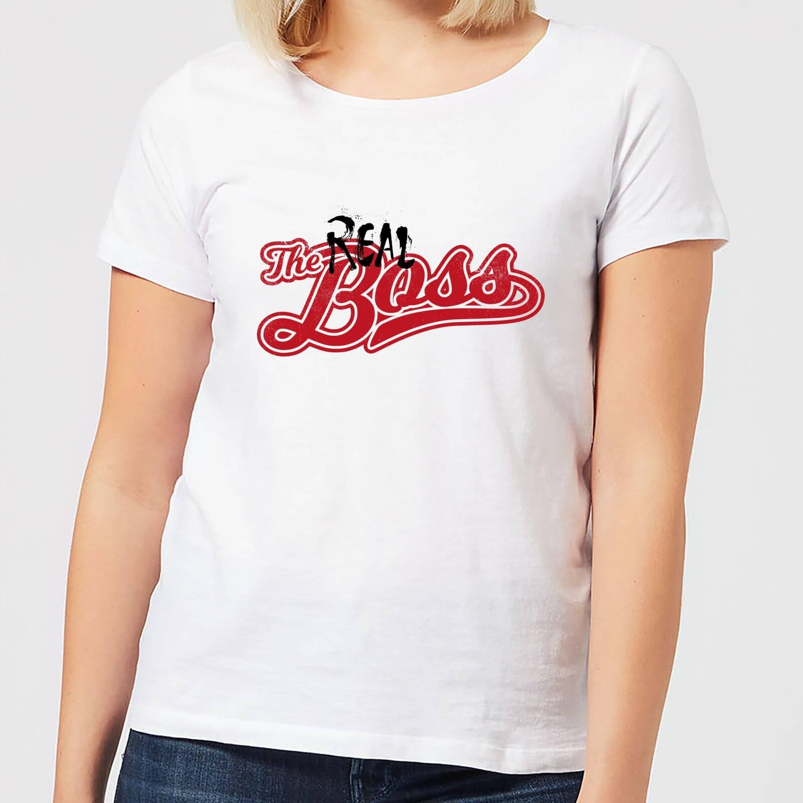 620c8fa0b The Real Boss Women's T-Shirt - White   IWOOT