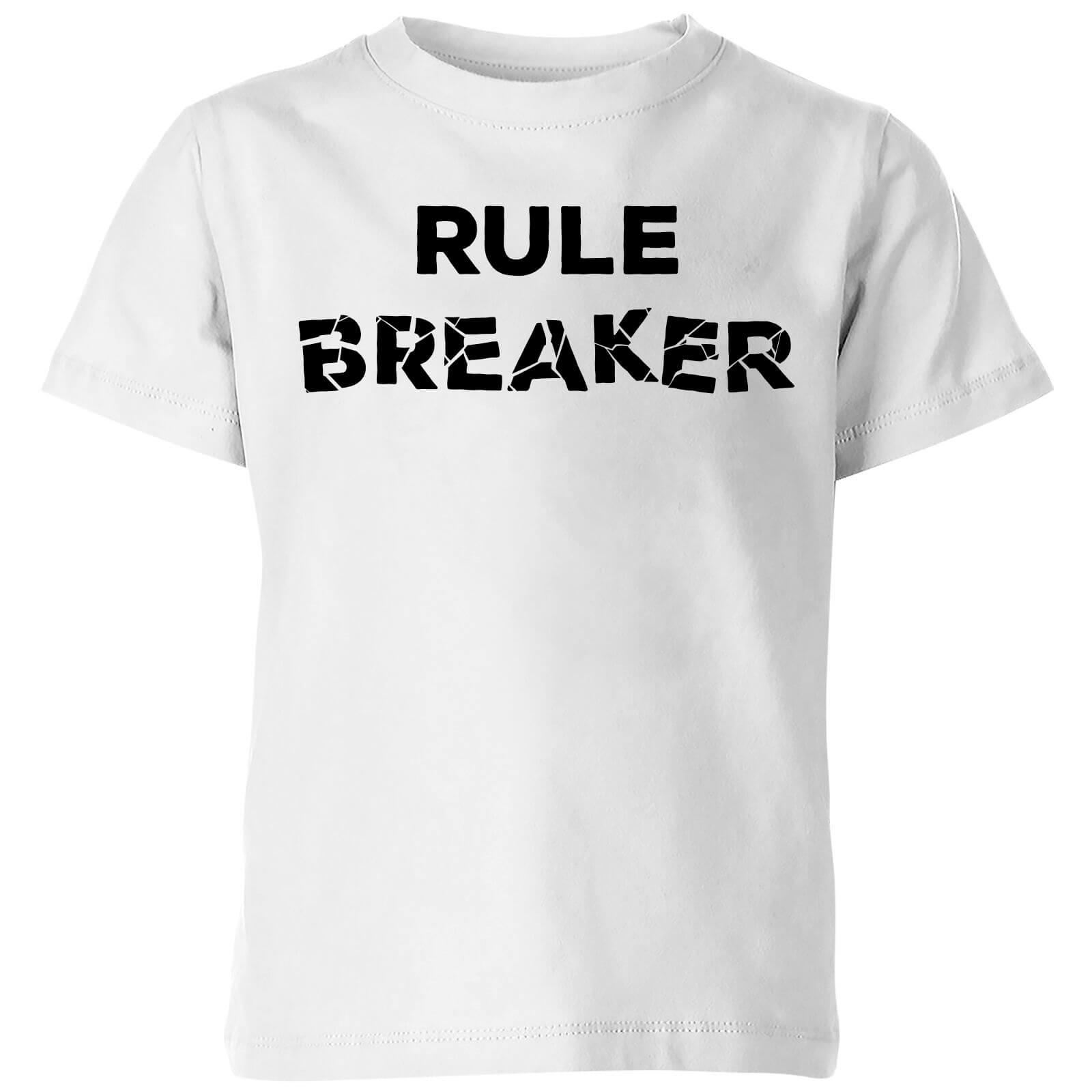 78093579f9a7 Rule Breaker Kids  T-Shirt - White