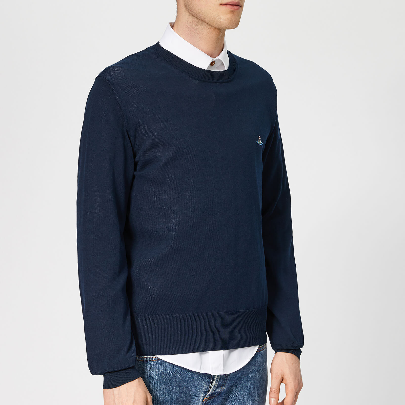 c9ce85f534262 Vivienne Westwood Men s Classic Crew Neck Knit - Navy - Free UK Delivery  over £50