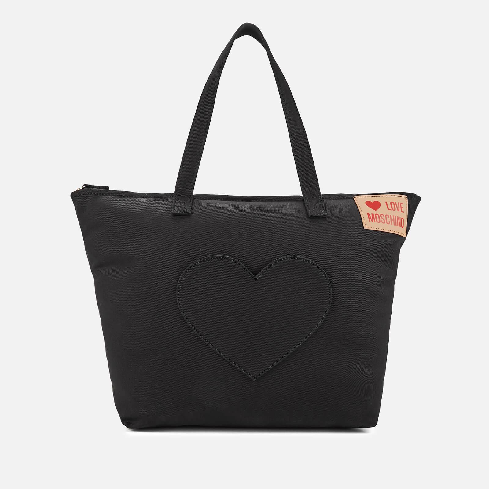 f2d65b48a88dc Love Moschino Women's Large Canvas Heart Pocket Tote Bag - Black Womens  Accessories | TheHut.com