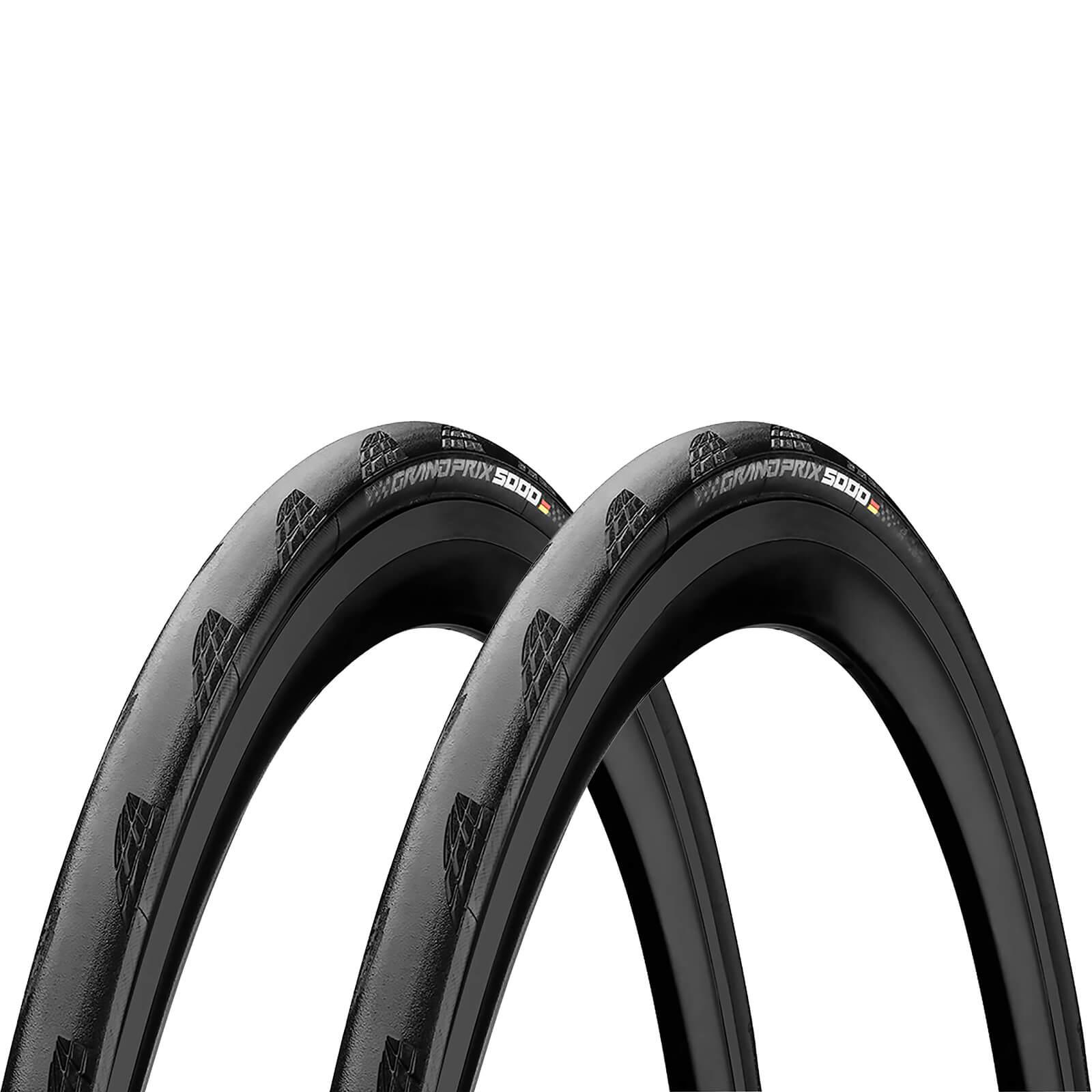 コンチネンタルグランプリ5000 クリンチャーロードタイヤツインパック-ブラック