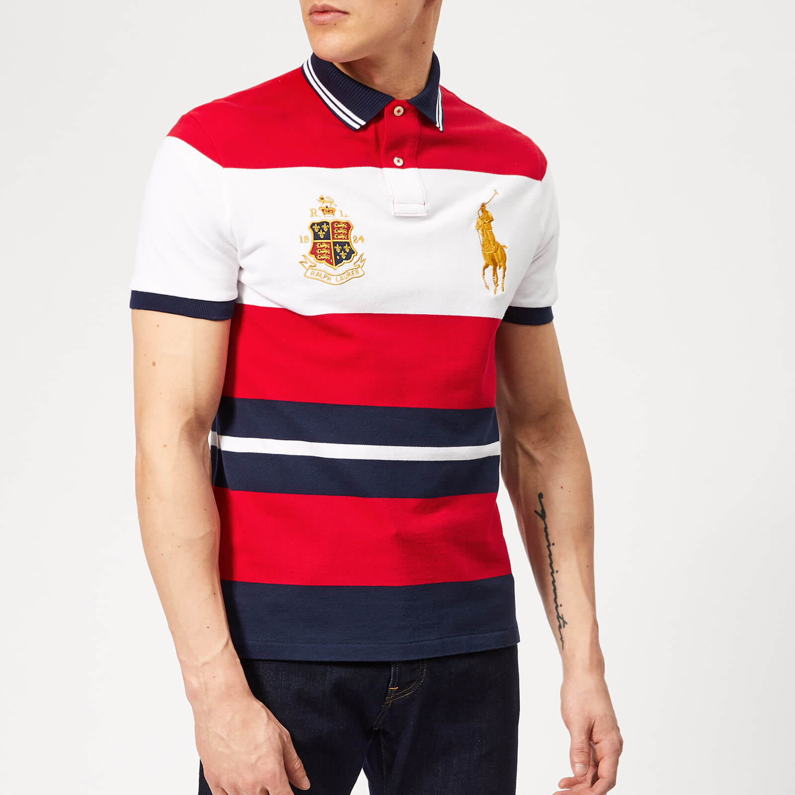 ccbf523a8b Polo Ralph Lauren Men's Crest/Horse Pique Polo Shirt - Rl 2000 Red Multi -  Free UK Delivery over £50
