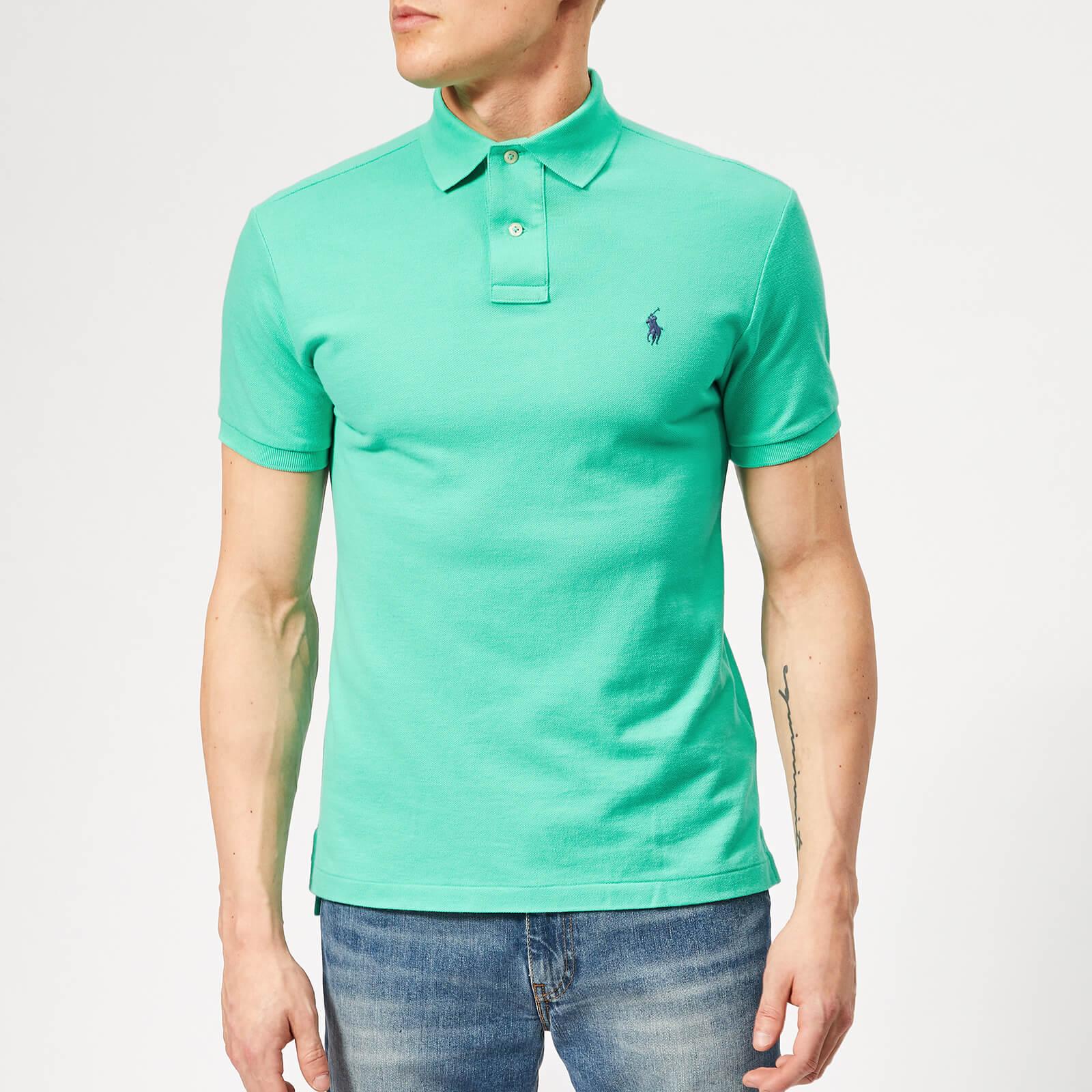 2fd5e4d8 Polo Ralph Lauren Men's Basic Pique Slim Fit Polo Shirt - Sunset Green