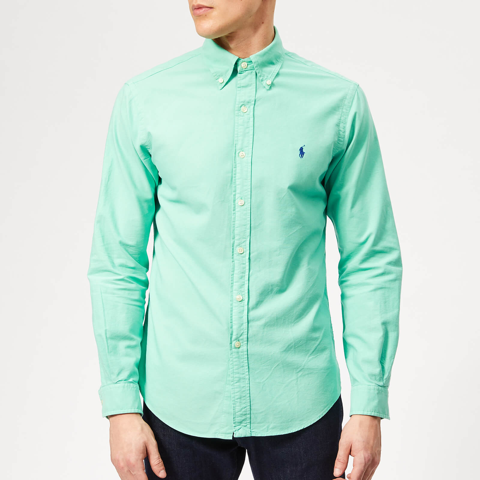 cc6b50d5 Polo Ralph Lauren Men's Garment Dyed Oxford Shirt - Sunset Green