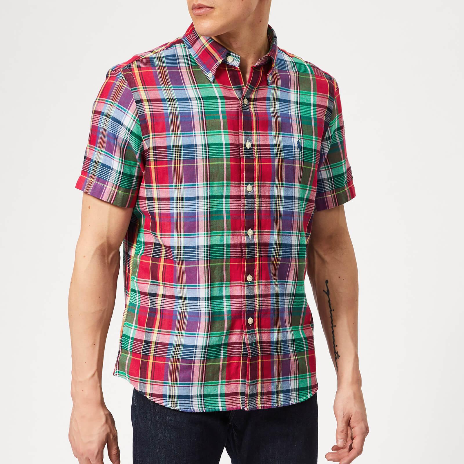Polo Ralph Lauren Mens Woven Short Sleeve Button Down