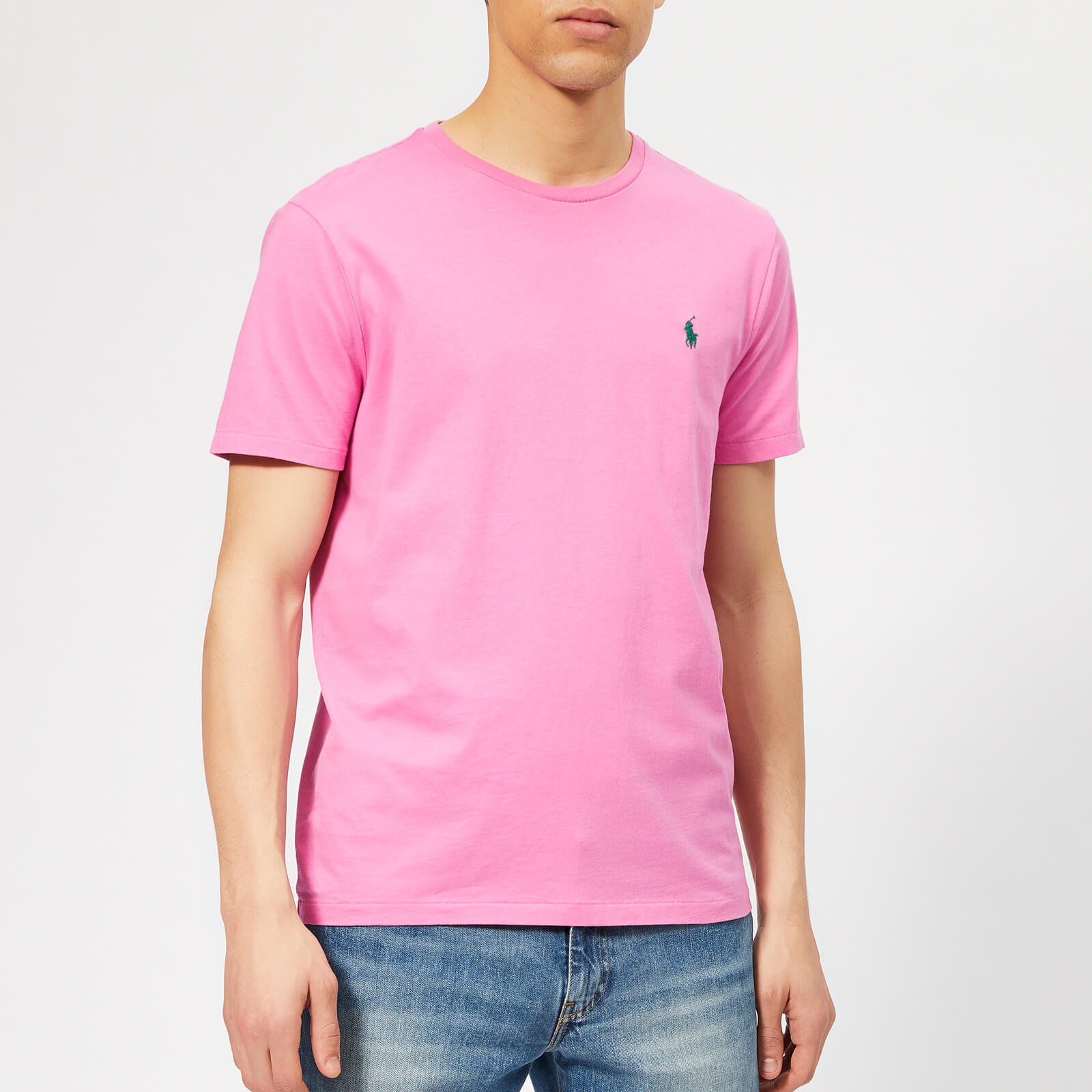fe62e6db4 Polo Ralph Lauren Men's Basic T-Shirt - Maui Pink - Free UK Delivery over  £50