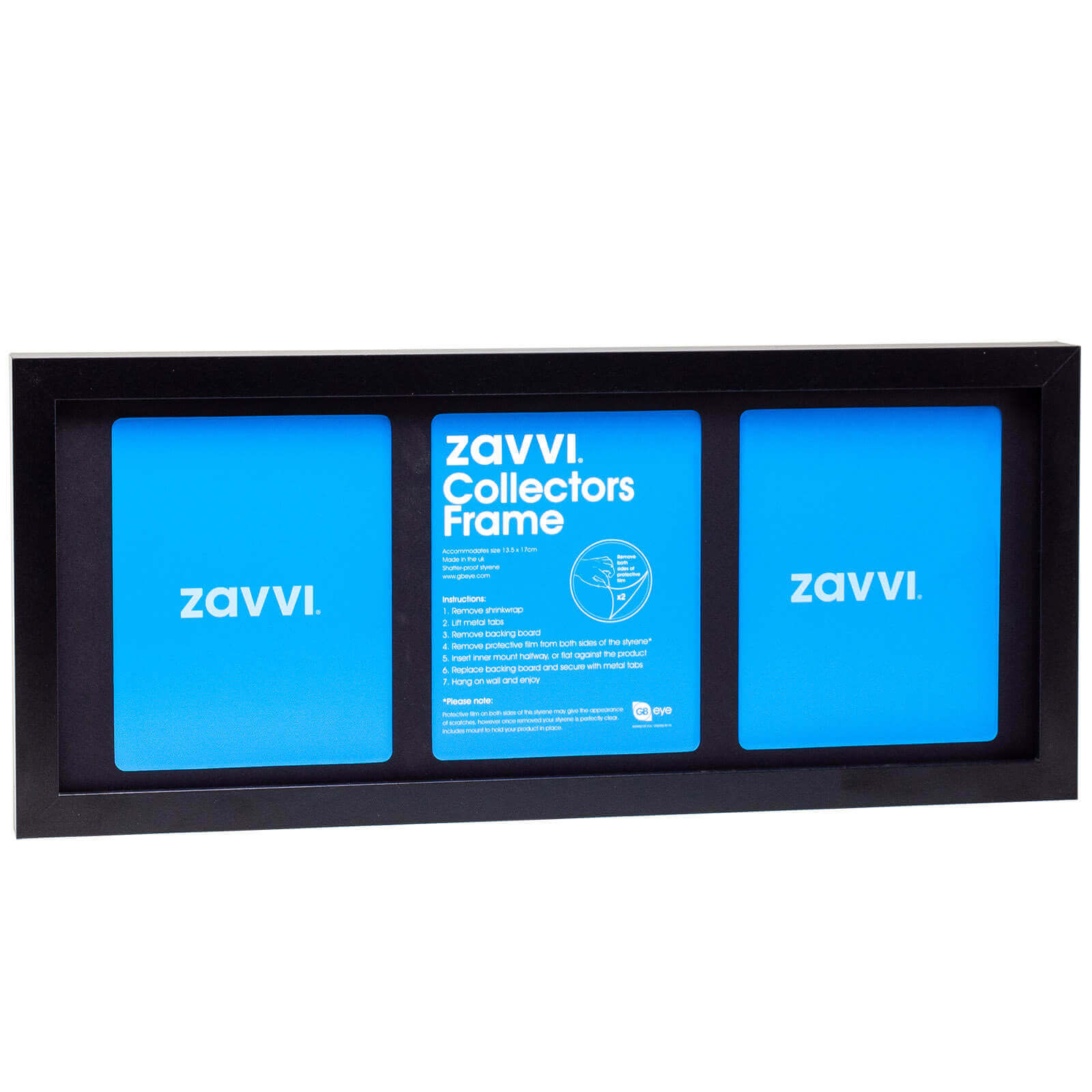 3D Black Collectors Frame with Black Mount 20x50cm