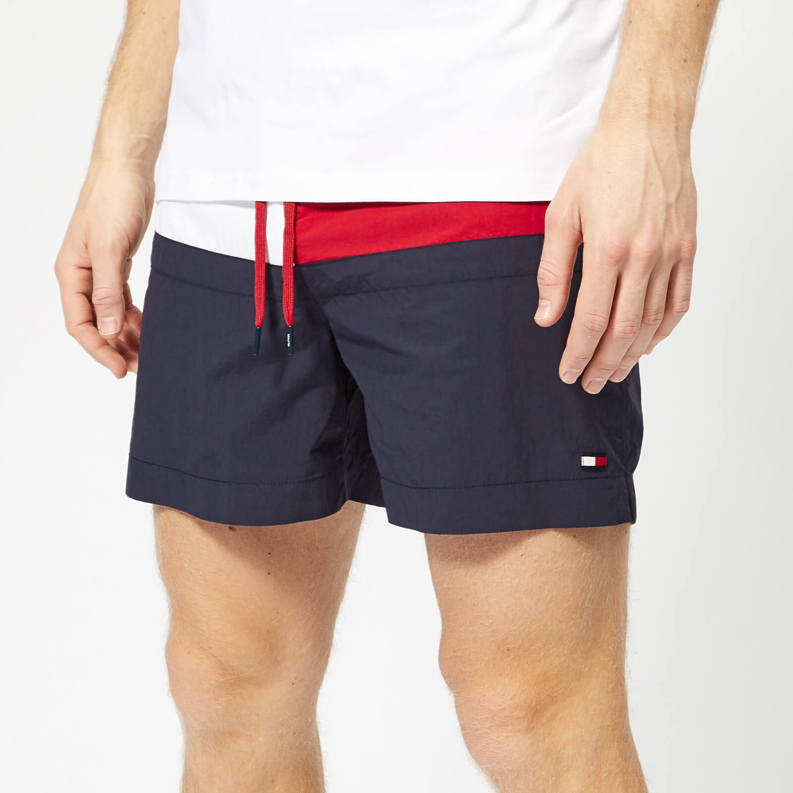 c223b6ea Tommy Hilfiger Men's Flag Medium Drawstring Swim Shorts - Navy Blazer Mens  Clothing | TheHut.com