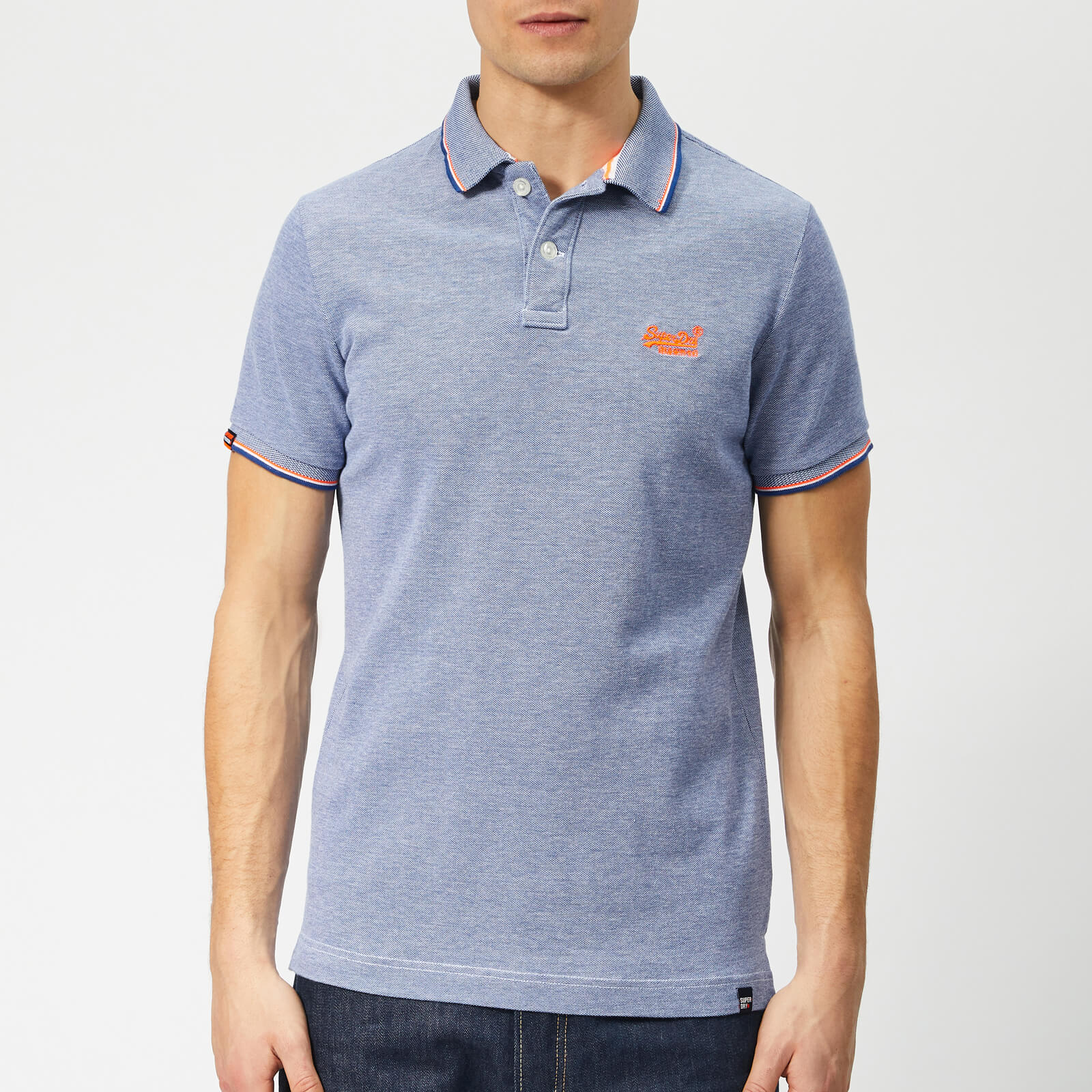 0611056d2a51 Superdry Men's Classic Poolside Polo Shirt - Cobalt/White Clothing ...