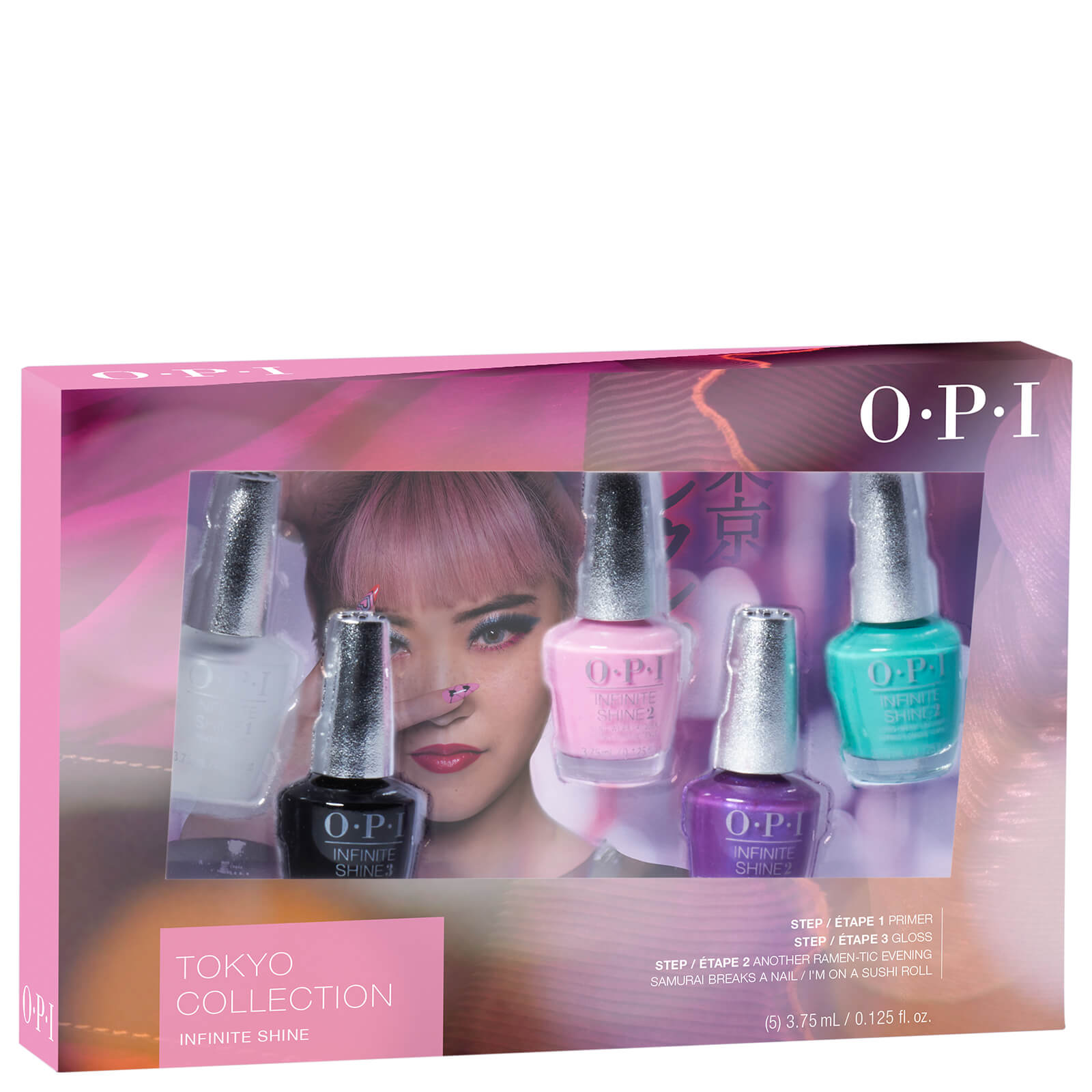OPI Tokyo Collection Infinite Shine Mini Nail Varnish Set (Set of 5 ...