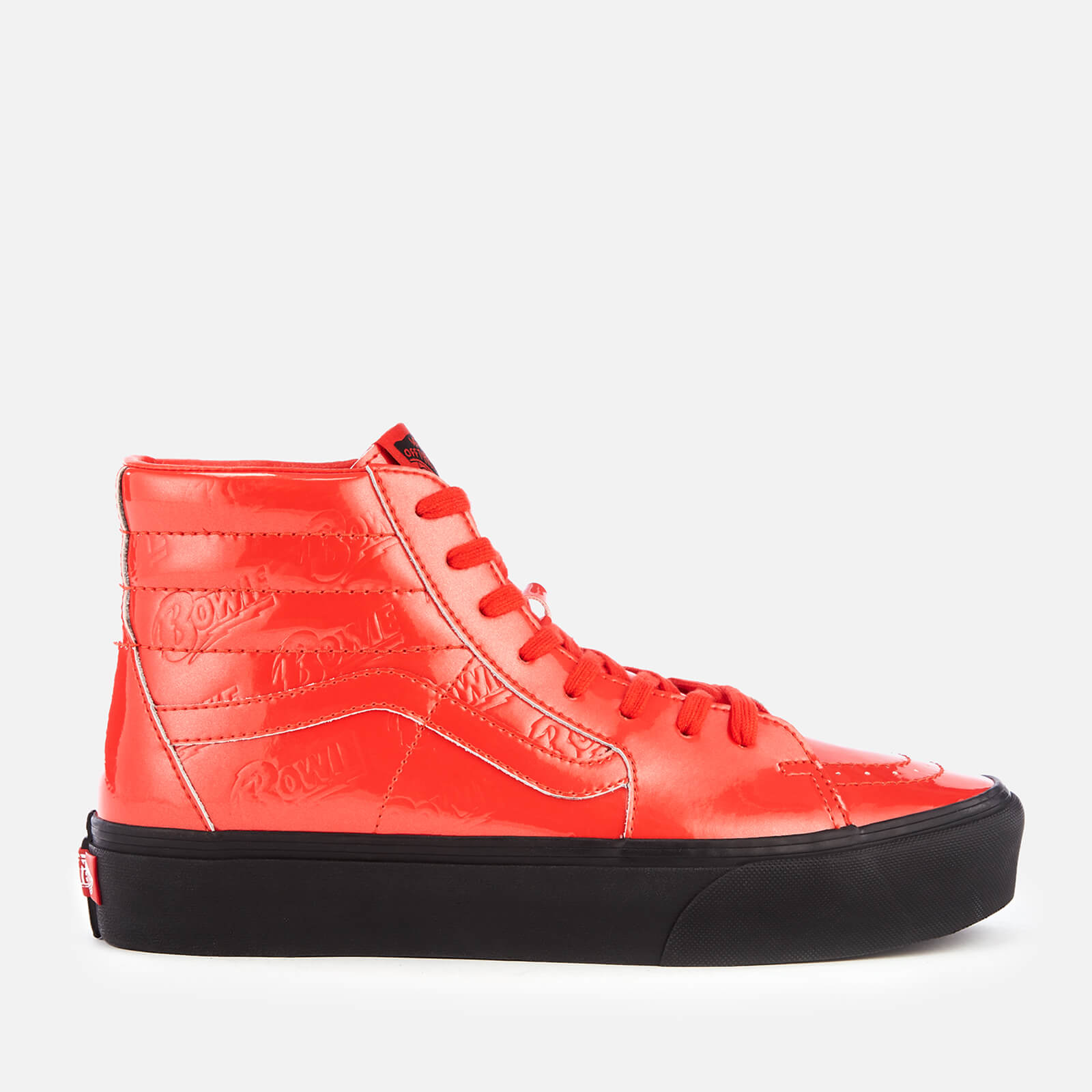 2d266ad730a1f8 Vans X David Bowie Sk8-Hi Platform 2.0 Trainers - Ziggy Stardust Red Black  - Free UK Delivery over £50