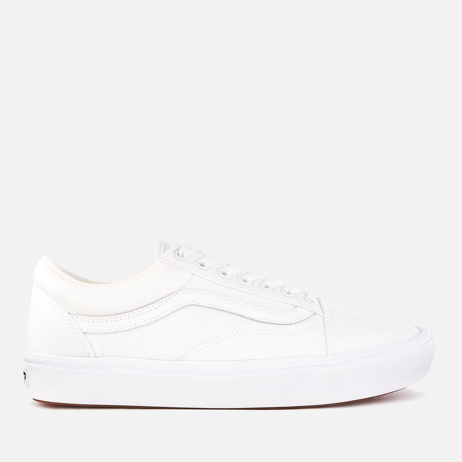 2248a56c8e3c0 Vans ComfyCush Classic Old Skool Trainers - True White/True White | FREE UK  Delivery | Allsole