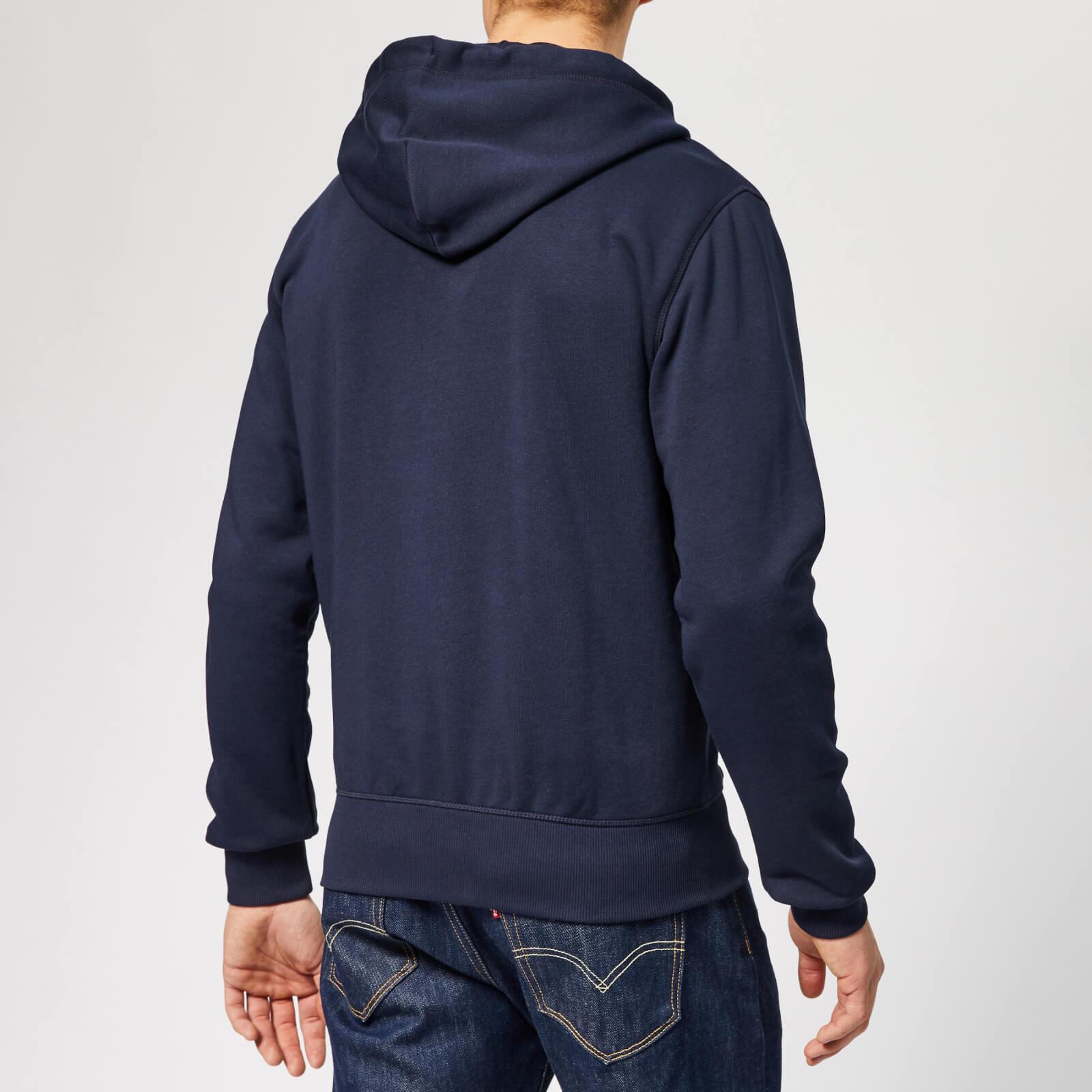 ff1311a0a2a GANT Men's The Original Full Zip Hoodie - Evening Blue Mens Clothing ...