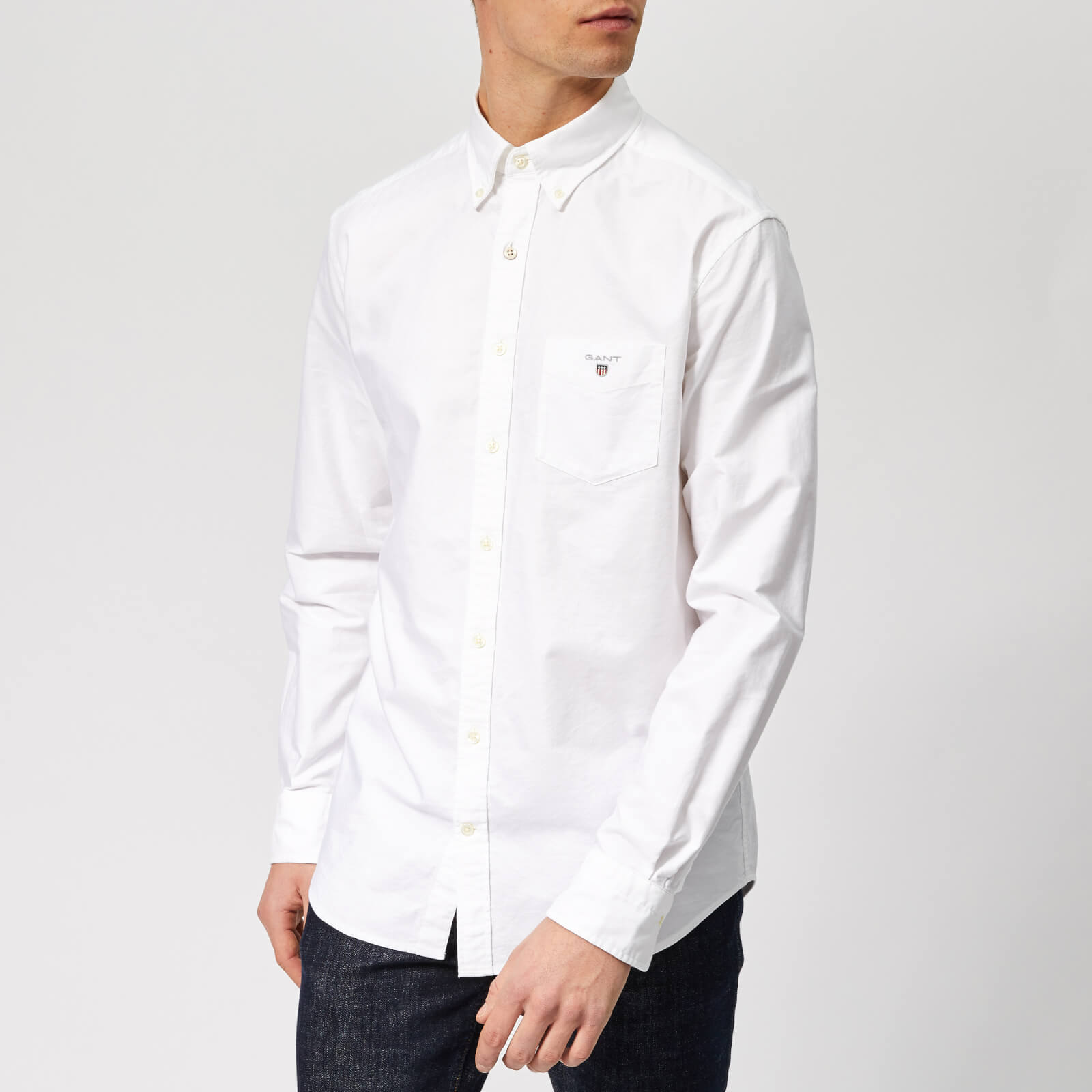551f7f85b GANT Men's Regular Fit Oxford Shirt - White